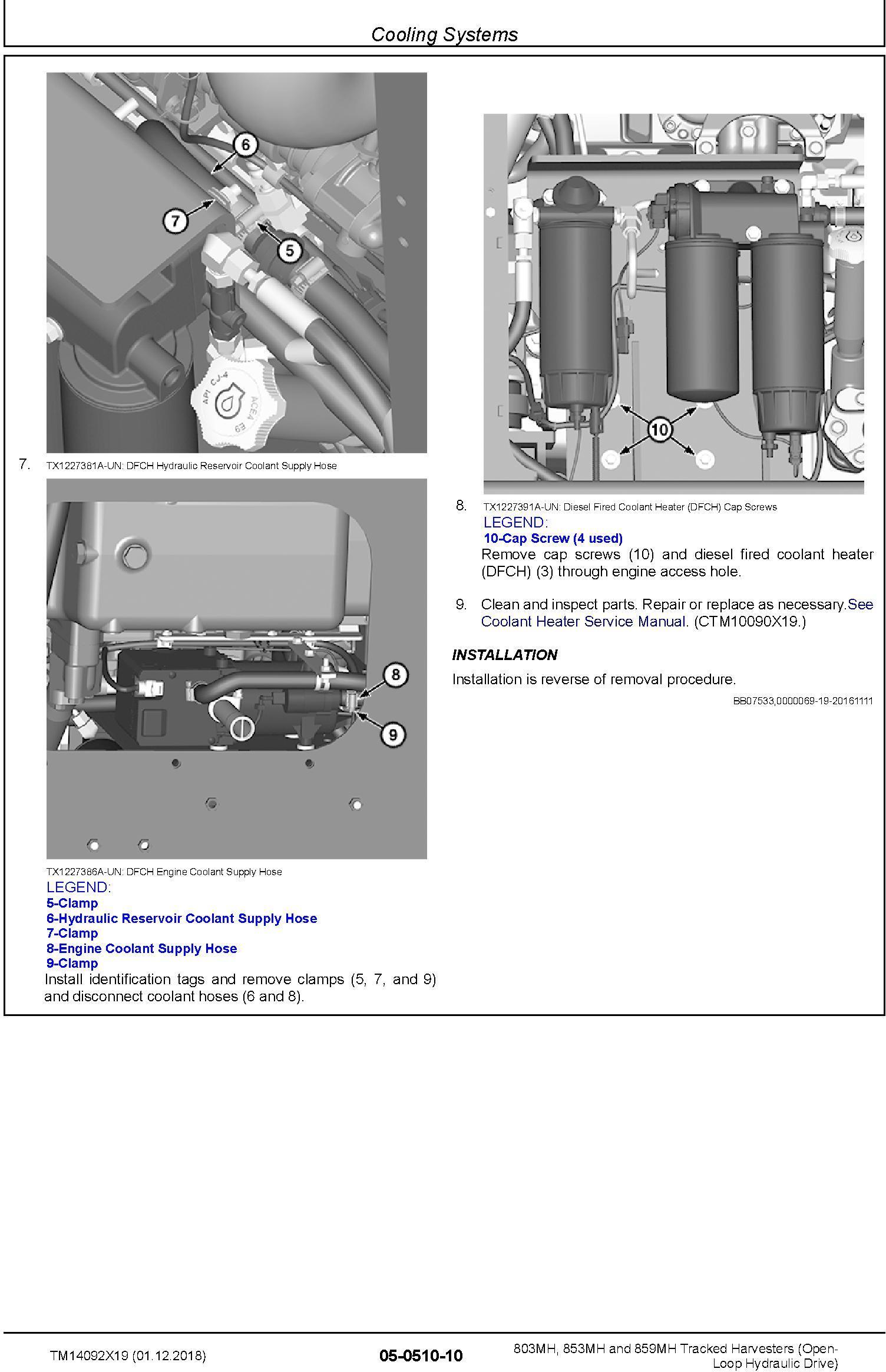 John Deere 803MH,853MH,859MH (SN. F293917-,L343918-) Harvesters (Open-Loop) Repair Manual TM14092X19 - 3