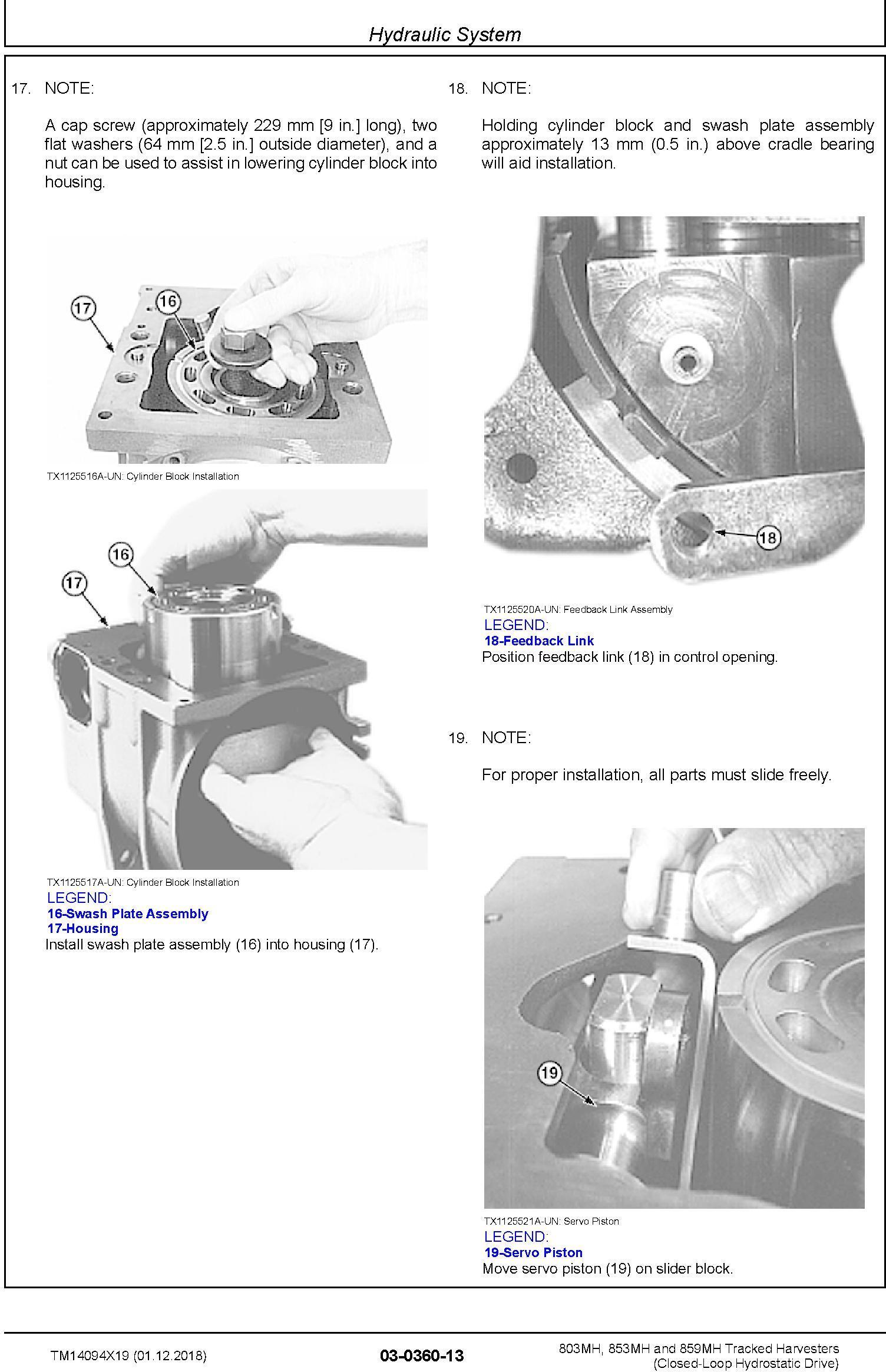 John Deere 803MH,853MH,859MH (SN.F293917-,L343918-) Harvester (Closed-Loop) Repair Manual TM14094X19 - 3