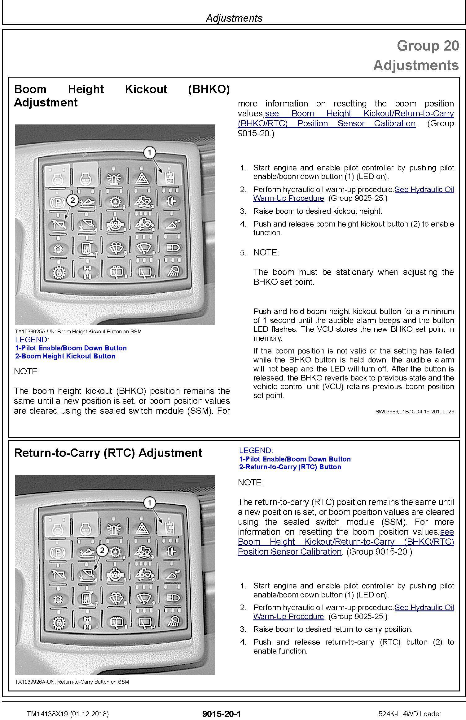 John Deere 524K-II (SN. F677549-) 4WD Loader Operation & Test Technical Service Manual (TM14138X19) - 1