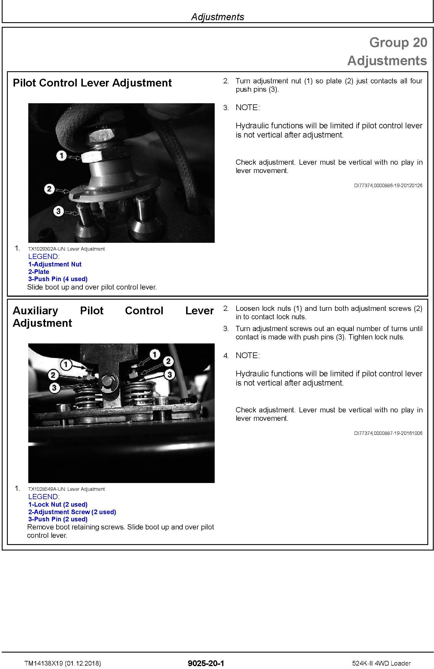 John Deere 524K-II (SN. F677549-) 4WD Loader Operation & Test Technical Service Manual (TM14138X19) - 3