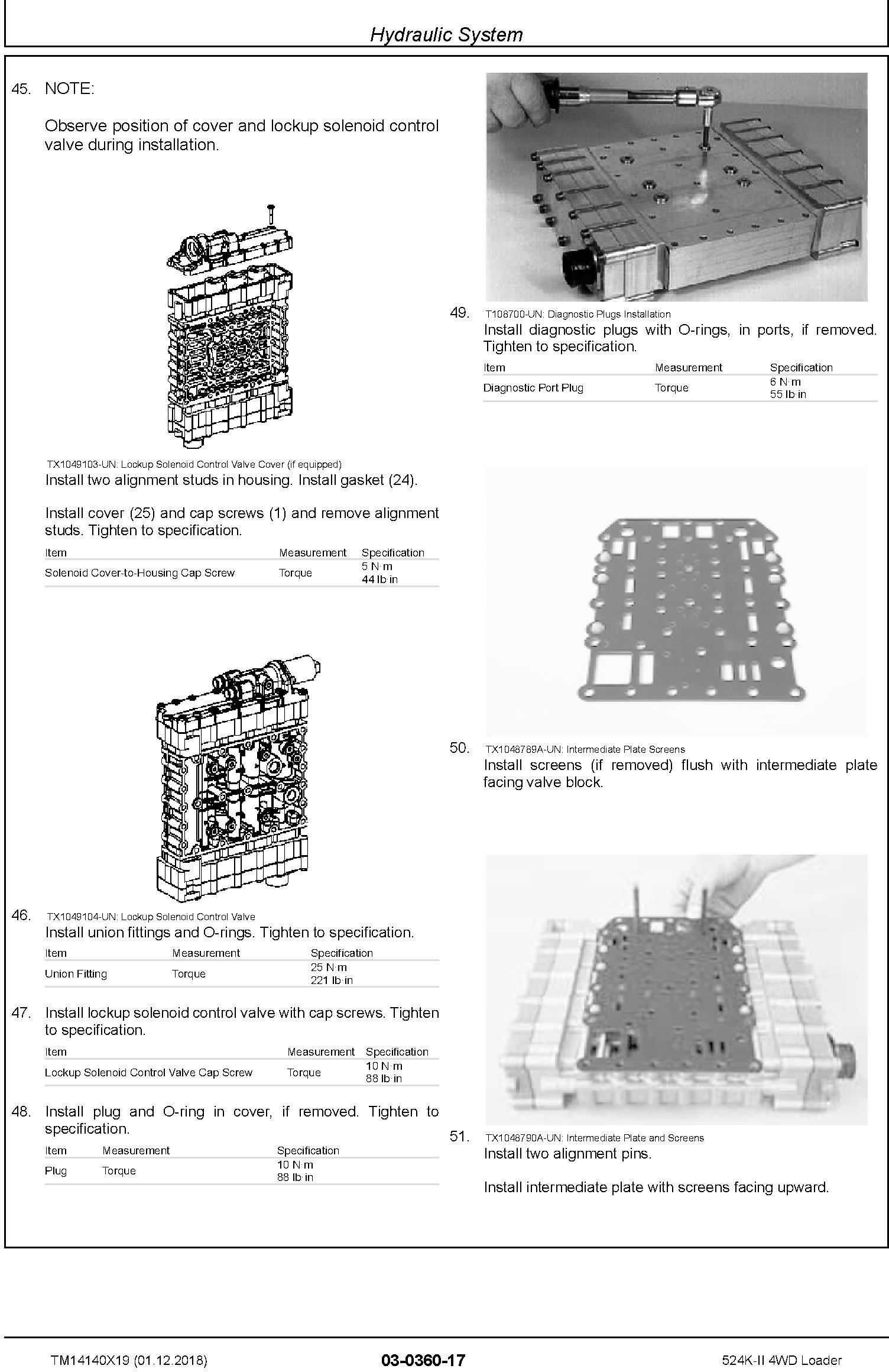 John Deere 524K-II (SN. F677549-) 4WD Loader Repair Technical Service Manual (TM14140X19) - 3