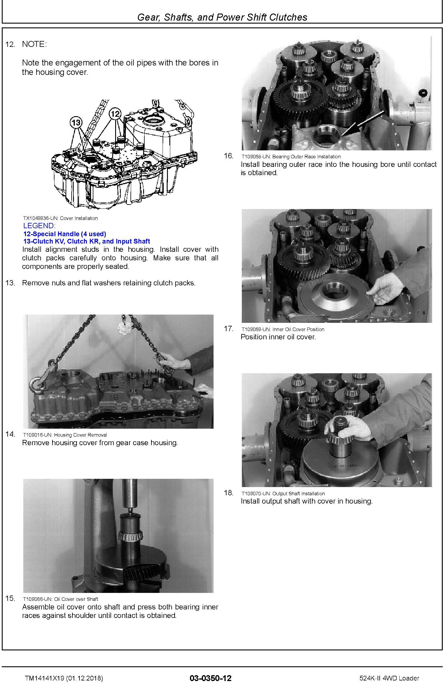 John Deere 524K-II (SN. D677549-) 4WD Loader Repair Technical Service Manual (TM14141X19) - 2