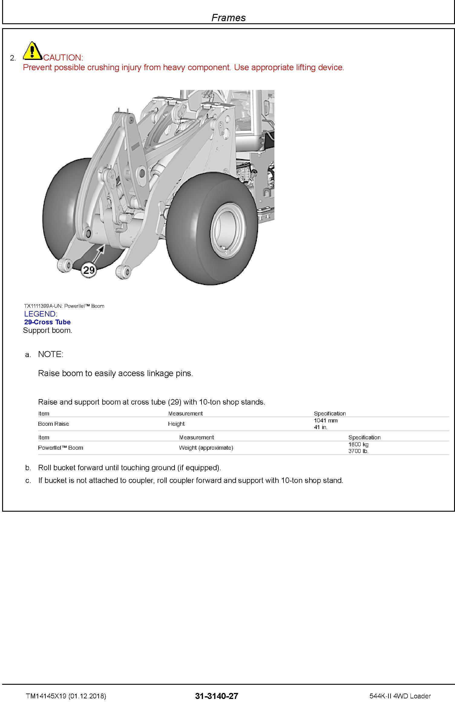 John Deere 544K-II (SN. D677549-) 4WD Loader Repair Technical Service Manual (TM14145X19) - 3