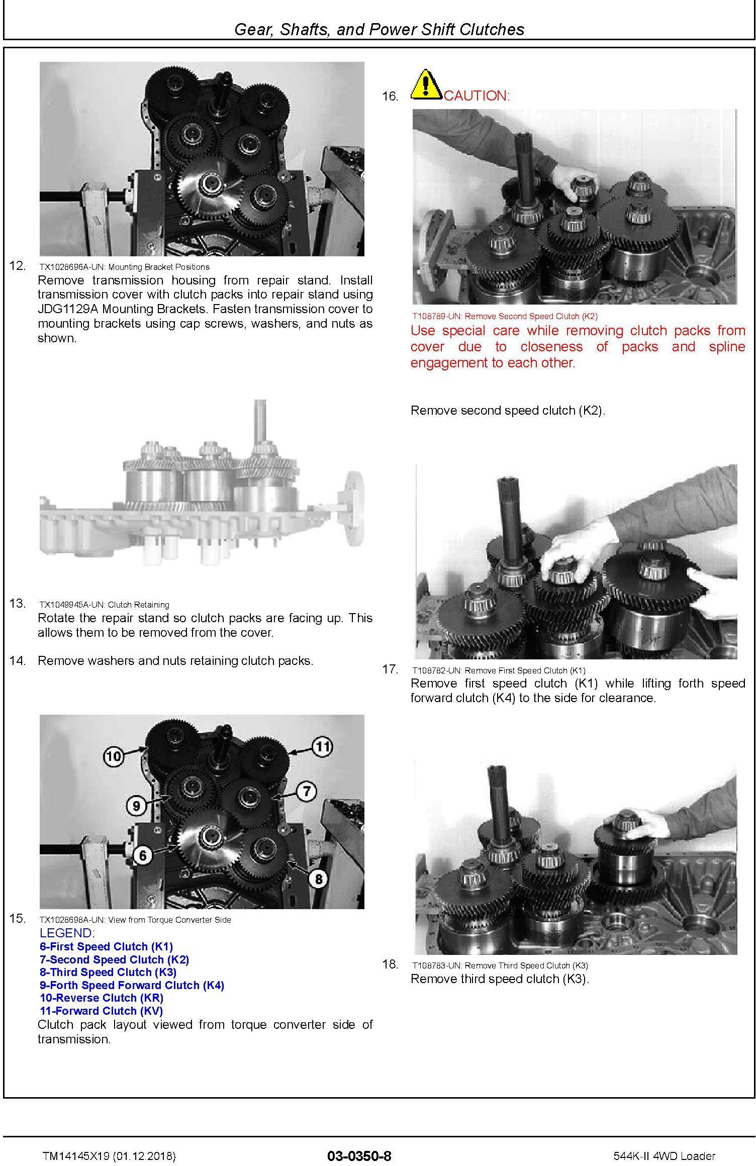 John Deere 544K-II (SN. D677549-) 4WD Loader Repair Technical Service Manual (TM14145X19) - 1