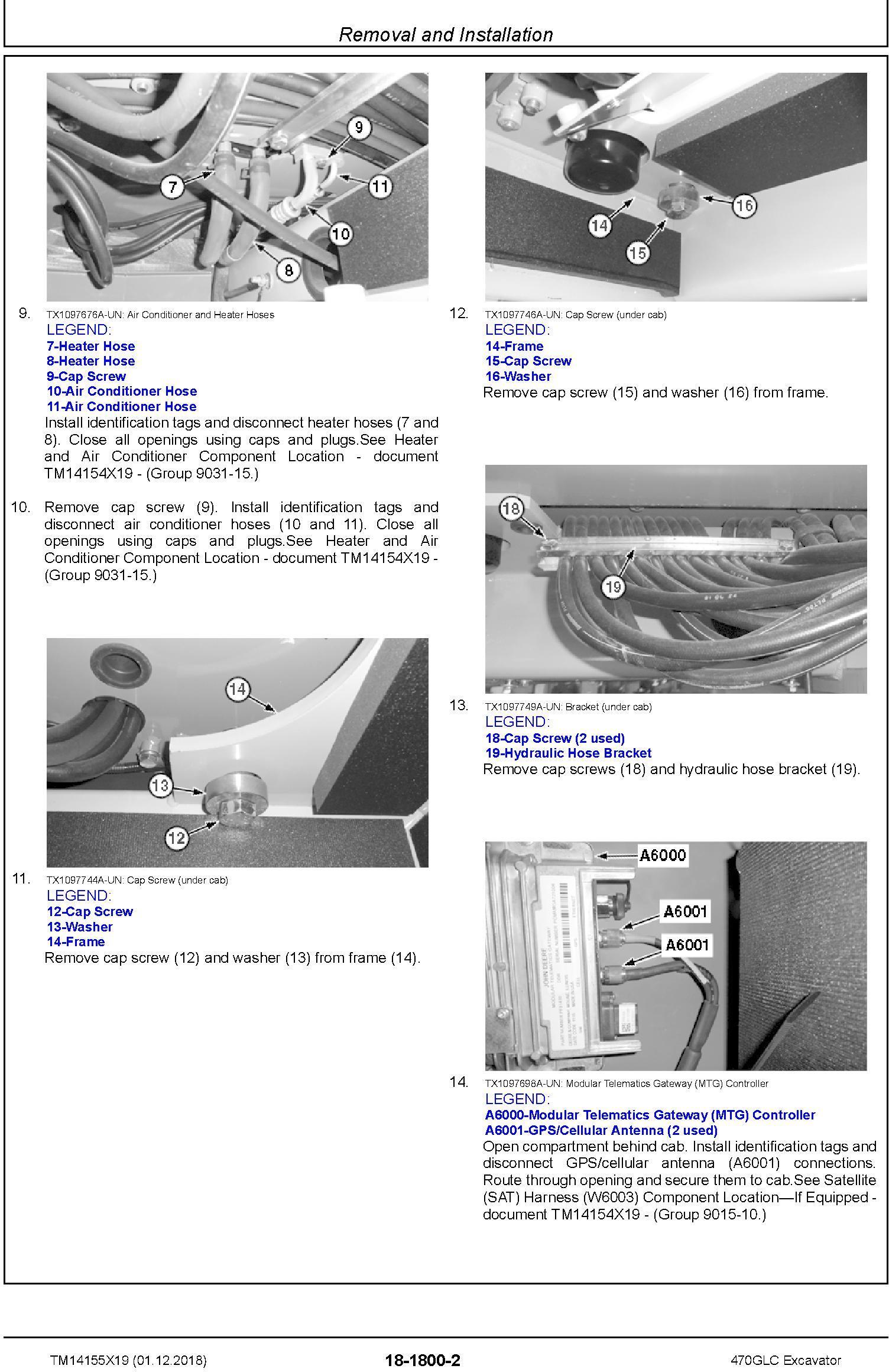 John Deere 470GLC (SN.from D473001) Excavator Service Repair Technical Manual (TM14155X19) - 3