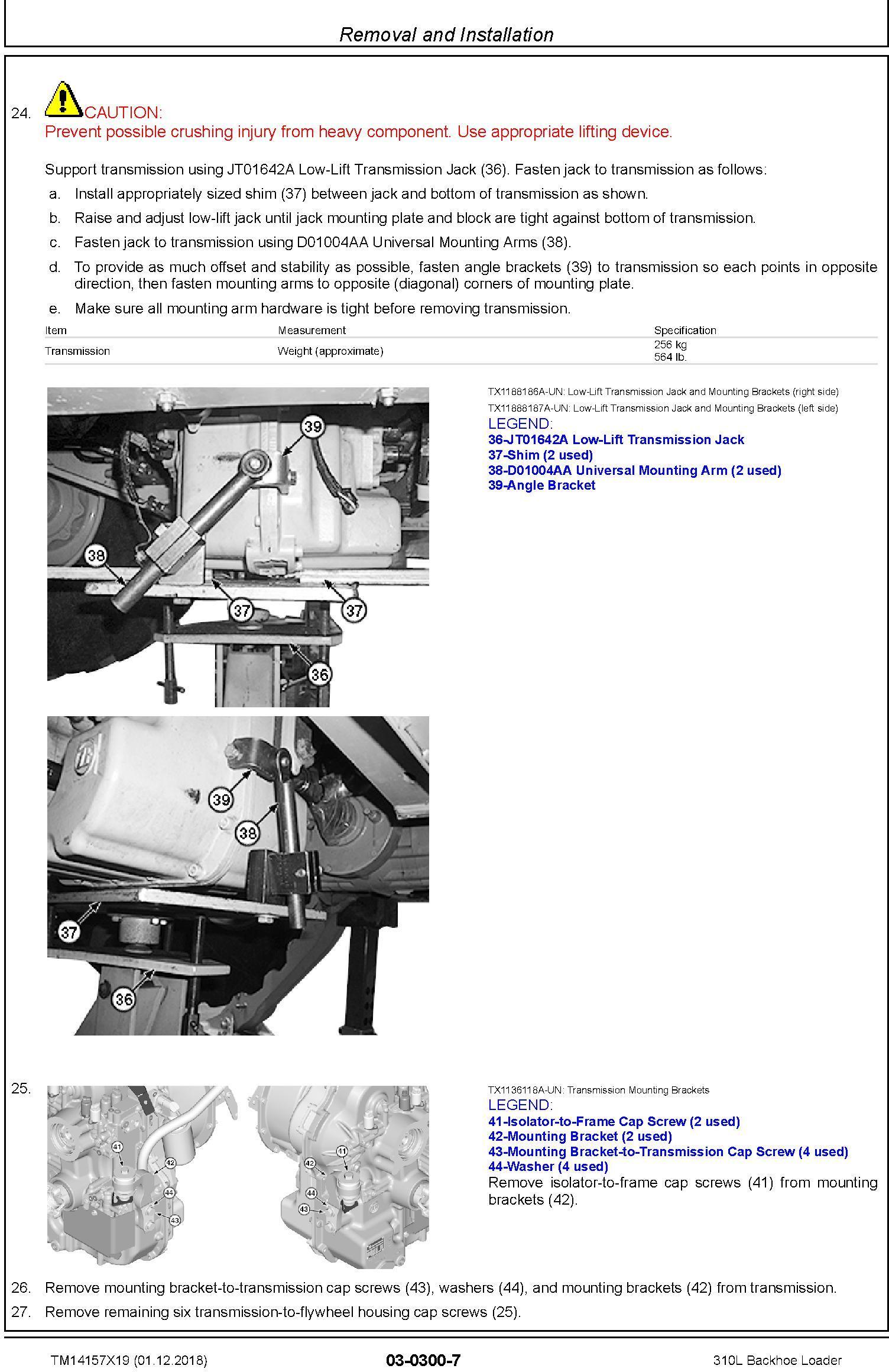 John Deere 310L (SN.C000001-,D000001-) Backhoe Loader Service Repair Technical Manual (TM14157X19) - 3