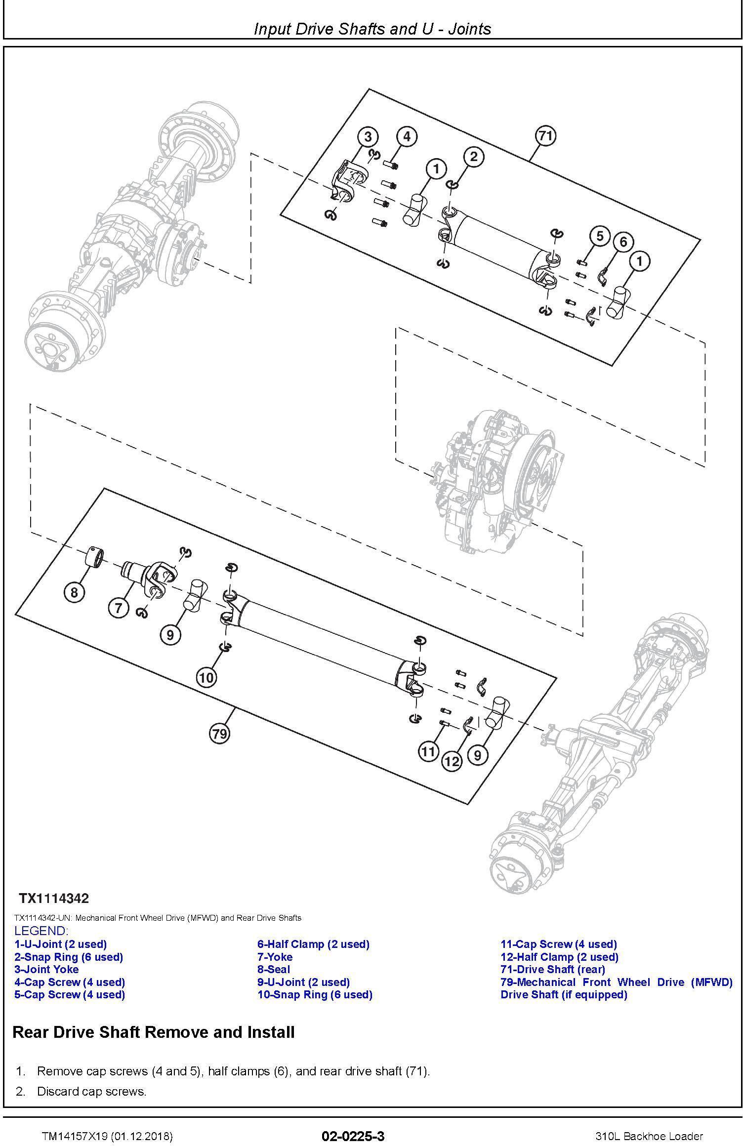 John Deere 310L (SN.C000001-,D000001-) Backhoe Loader Service Repair Technical Manual (TM14157X19) - 1