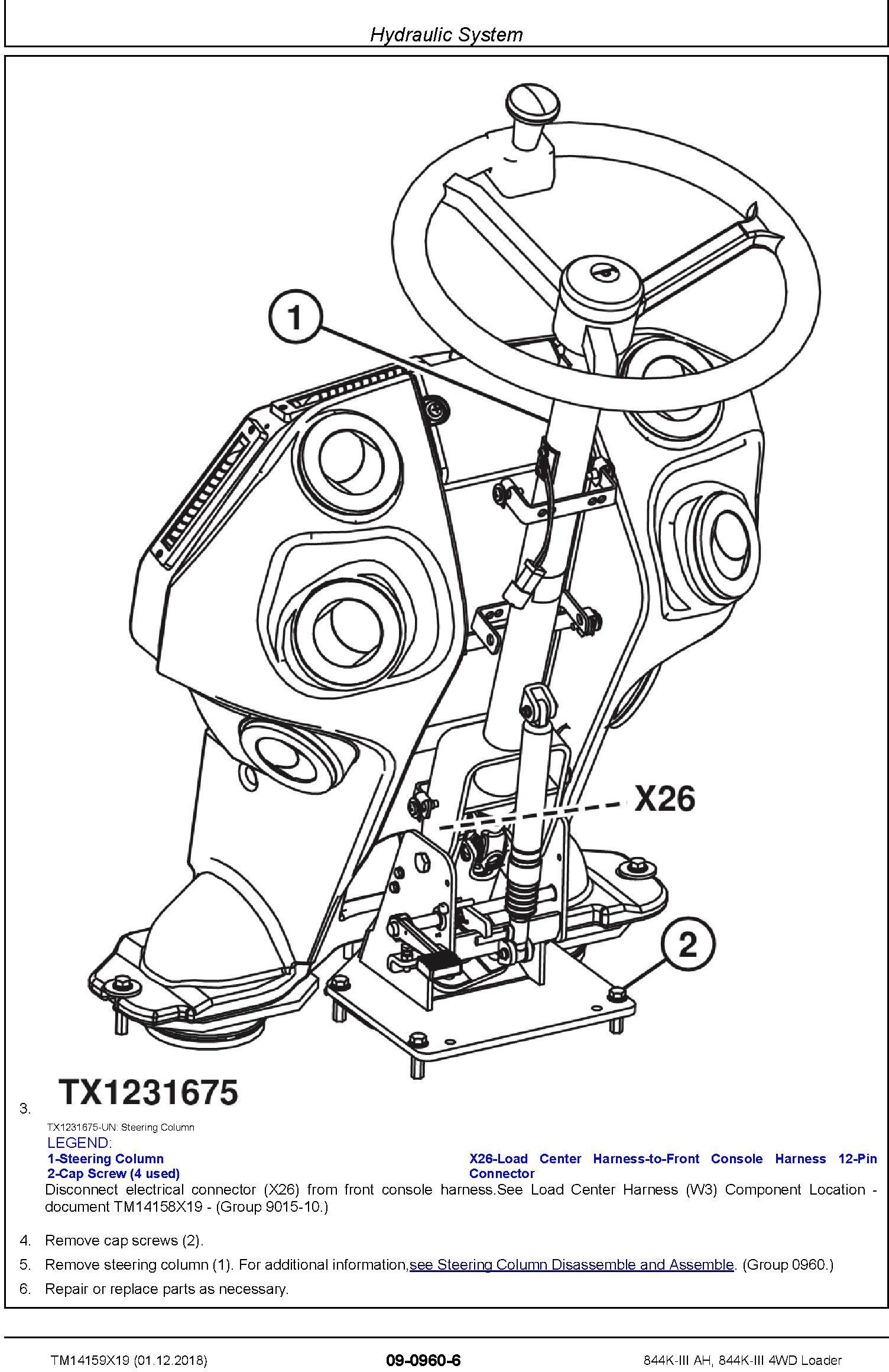 John Deere 844K-III (AH) SN. from F677782 4WD Loader Repair Technical Service Manual (TM14159X19) - 3