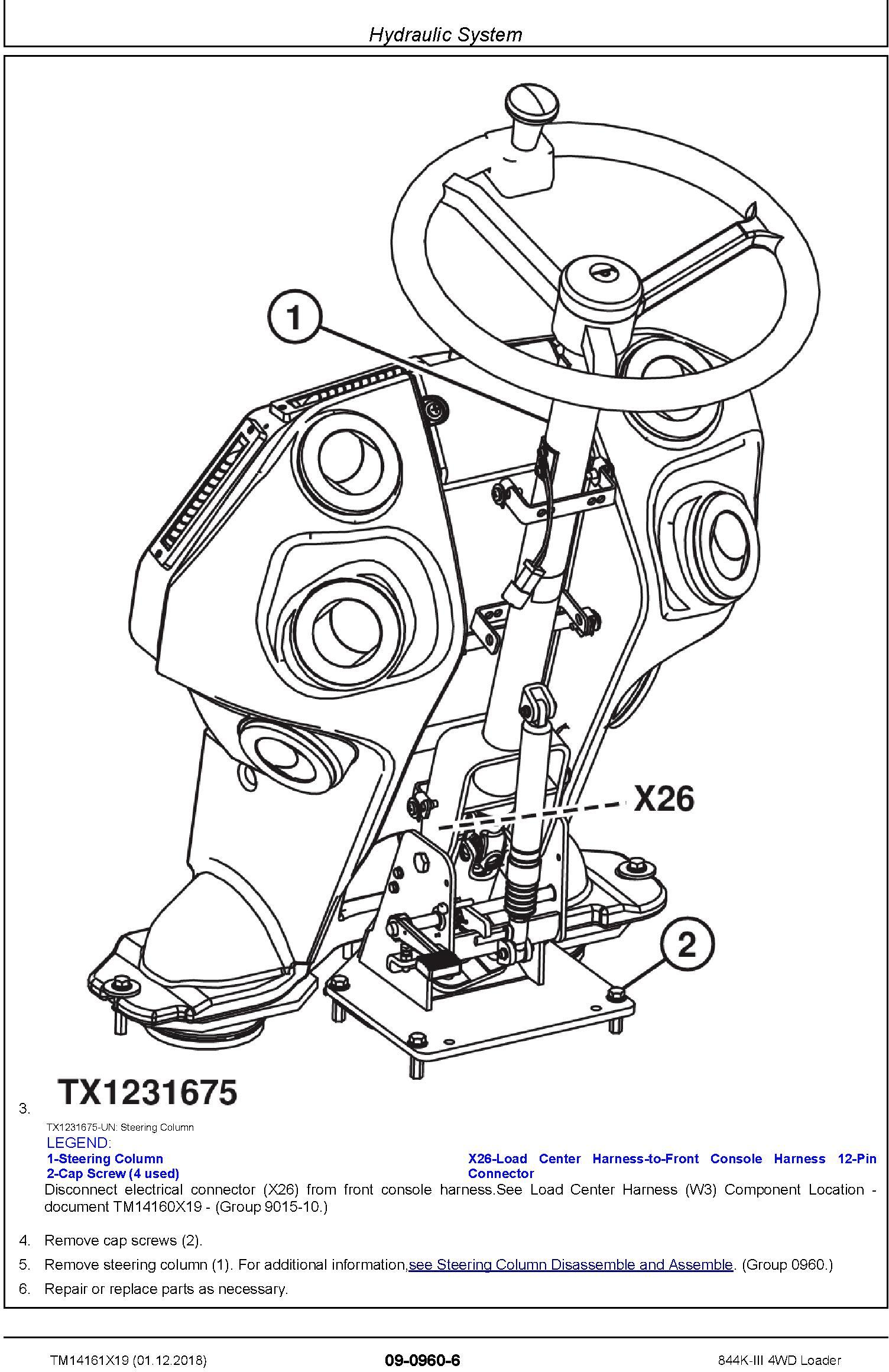 John Deere 844K-III (SN. D677782-) 4WD Loader Repair Technical Service Manual (TM14161X19) - 3
