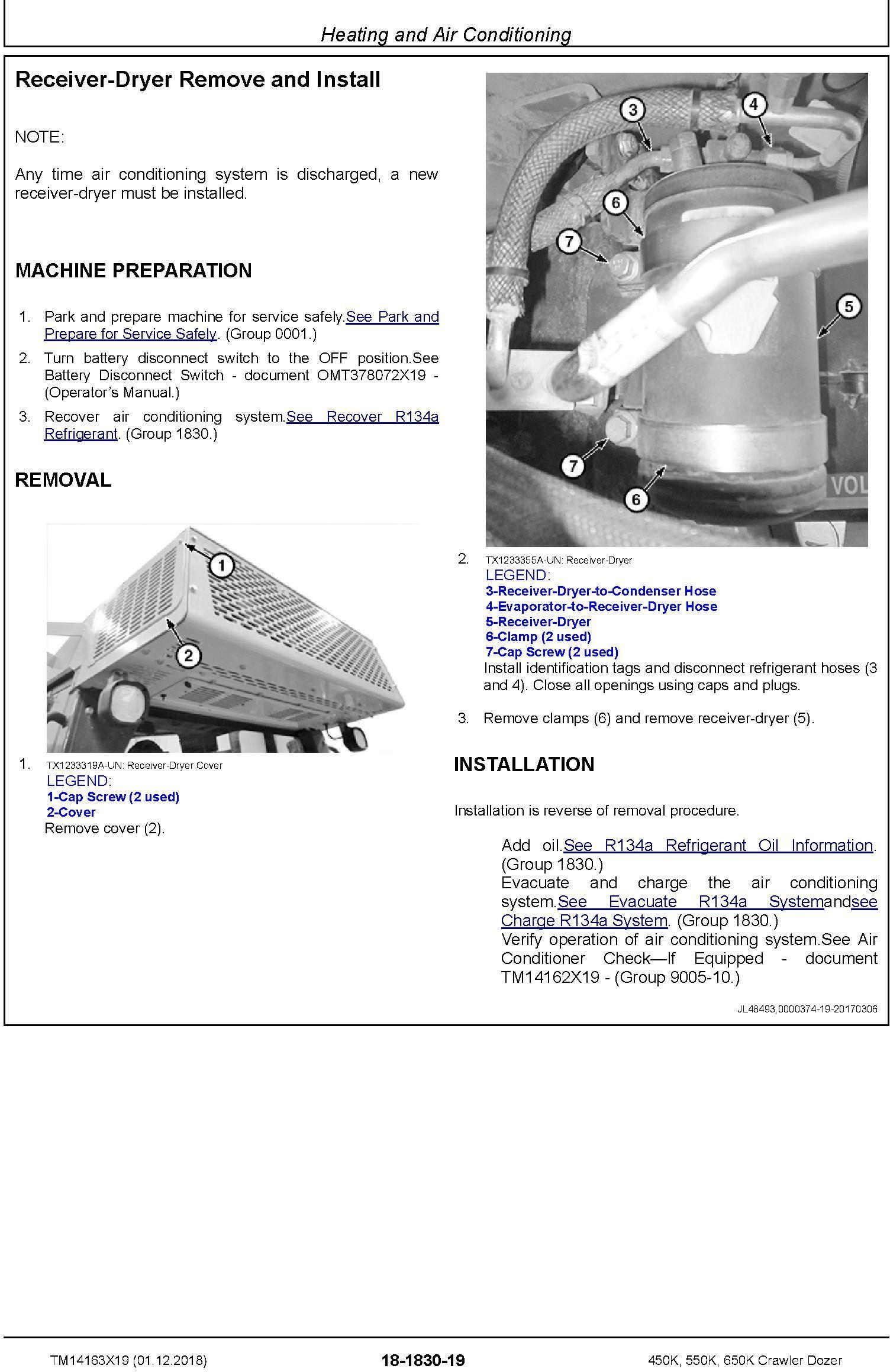 John Deere 450K, 550K, 650K (SN.F305399-) Crawler Dozer Repair Technical Service Manual (TM14163X19) - 3