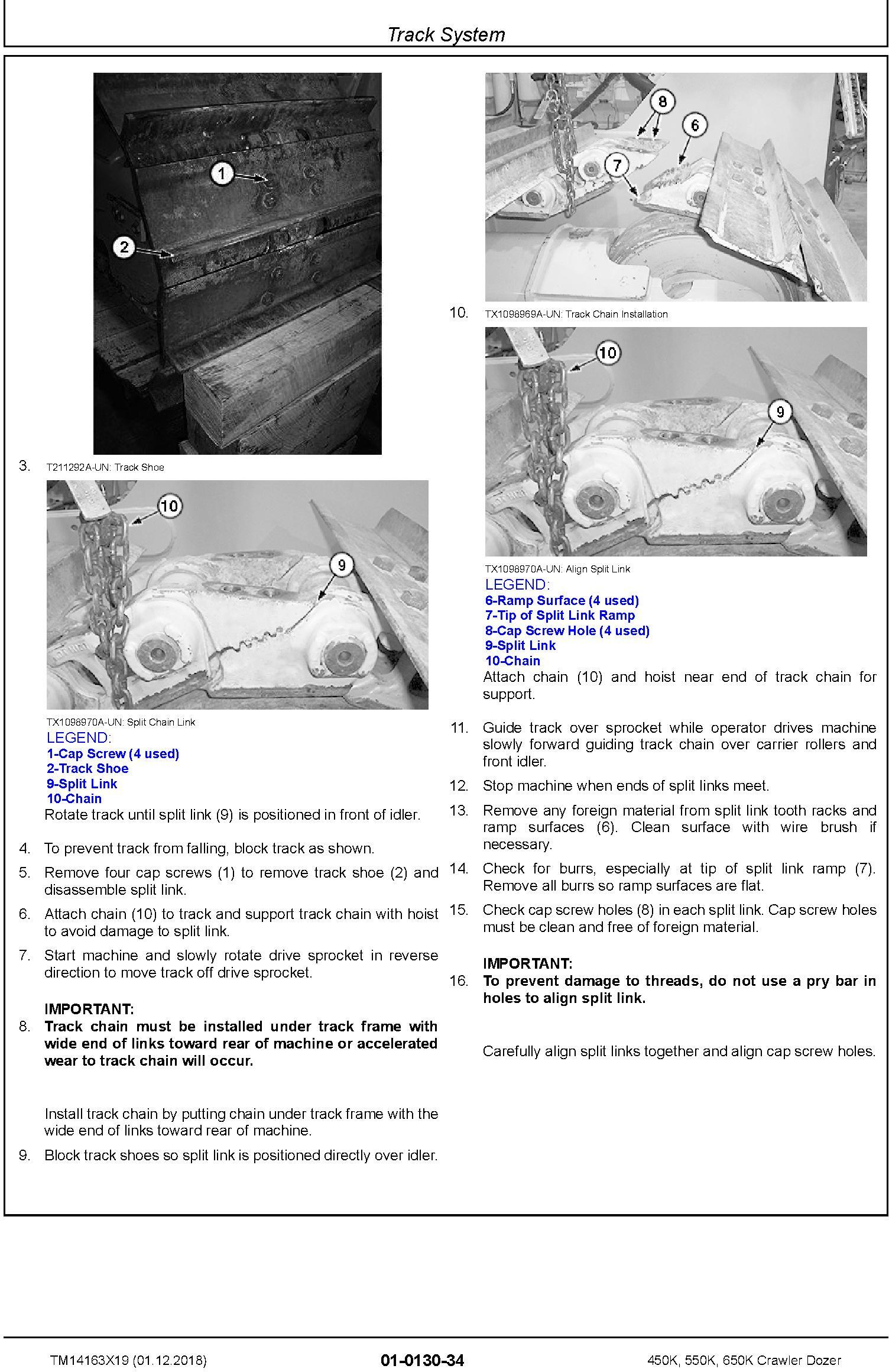 John Deere 450K, 550K, 650K (SN.F305399-) Crawler Dozer Repair Technical Service Manual (TM14163X19) - 1