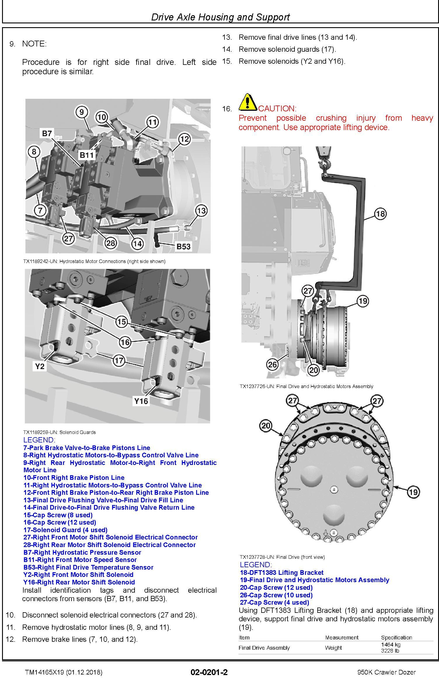John Deere 950K (SN. F310401-338999) Crawler Dozer Service Repair Technical Manual (TM14165X19) - 3