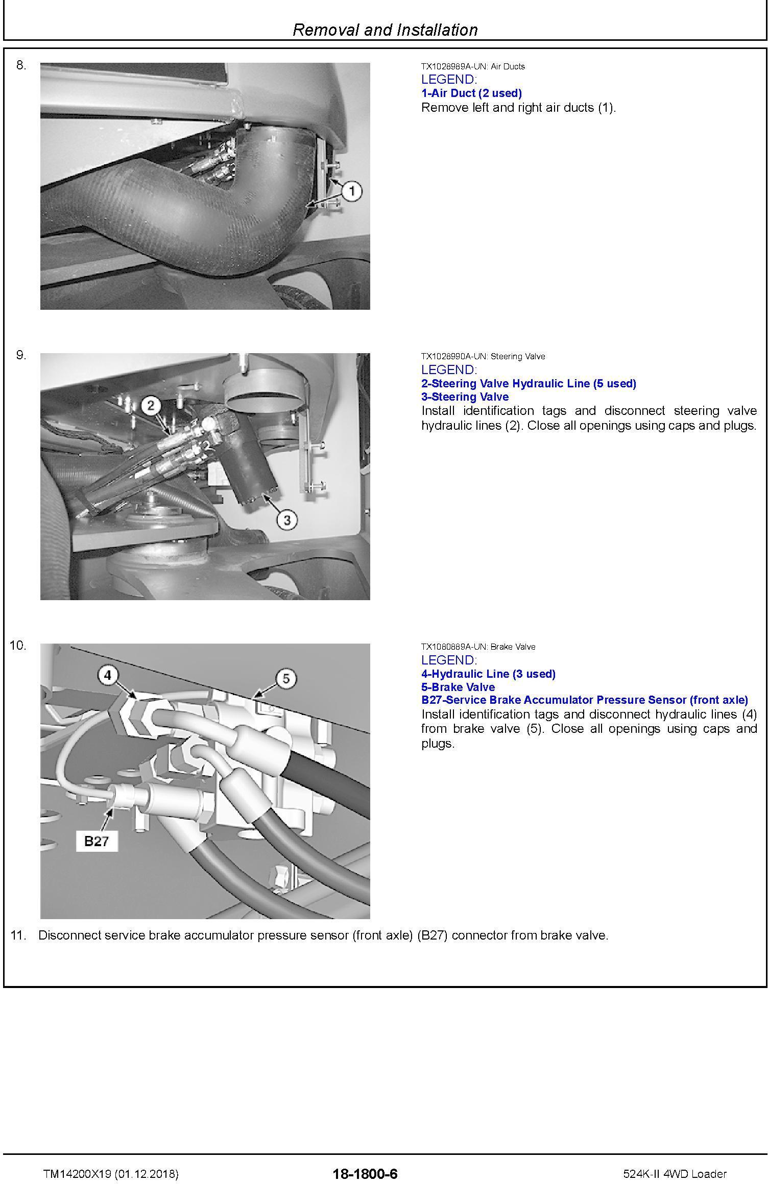 John Deere 524K-II (SN. D001001-) 4WD Loader Repair Technical Service Manual (TM14200X19) - 1