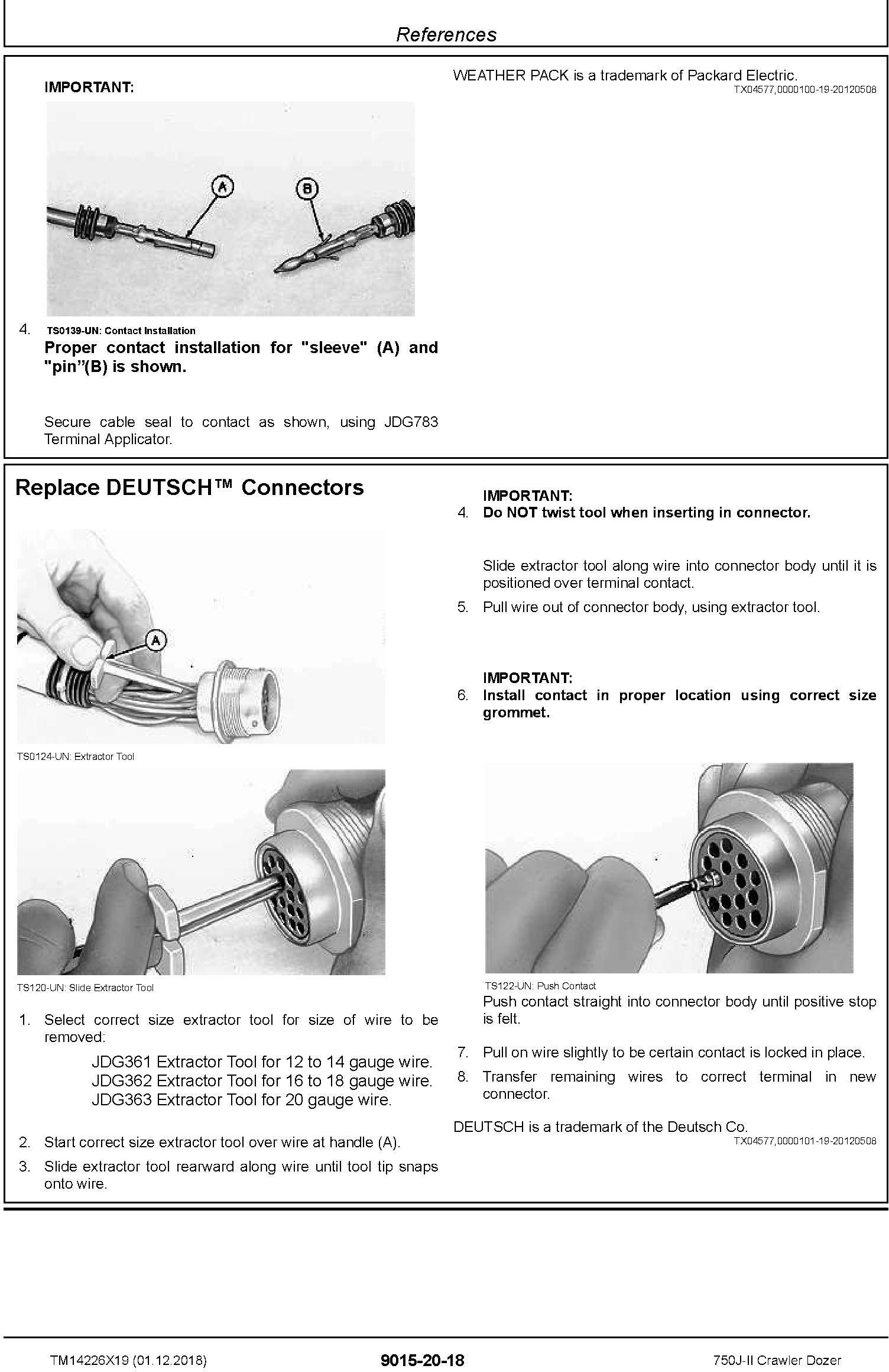 John Deere 750J-II (SN. D306890-330911) Crawler Dozer Operation & Test Technical Manual (TM14226X19) - 1