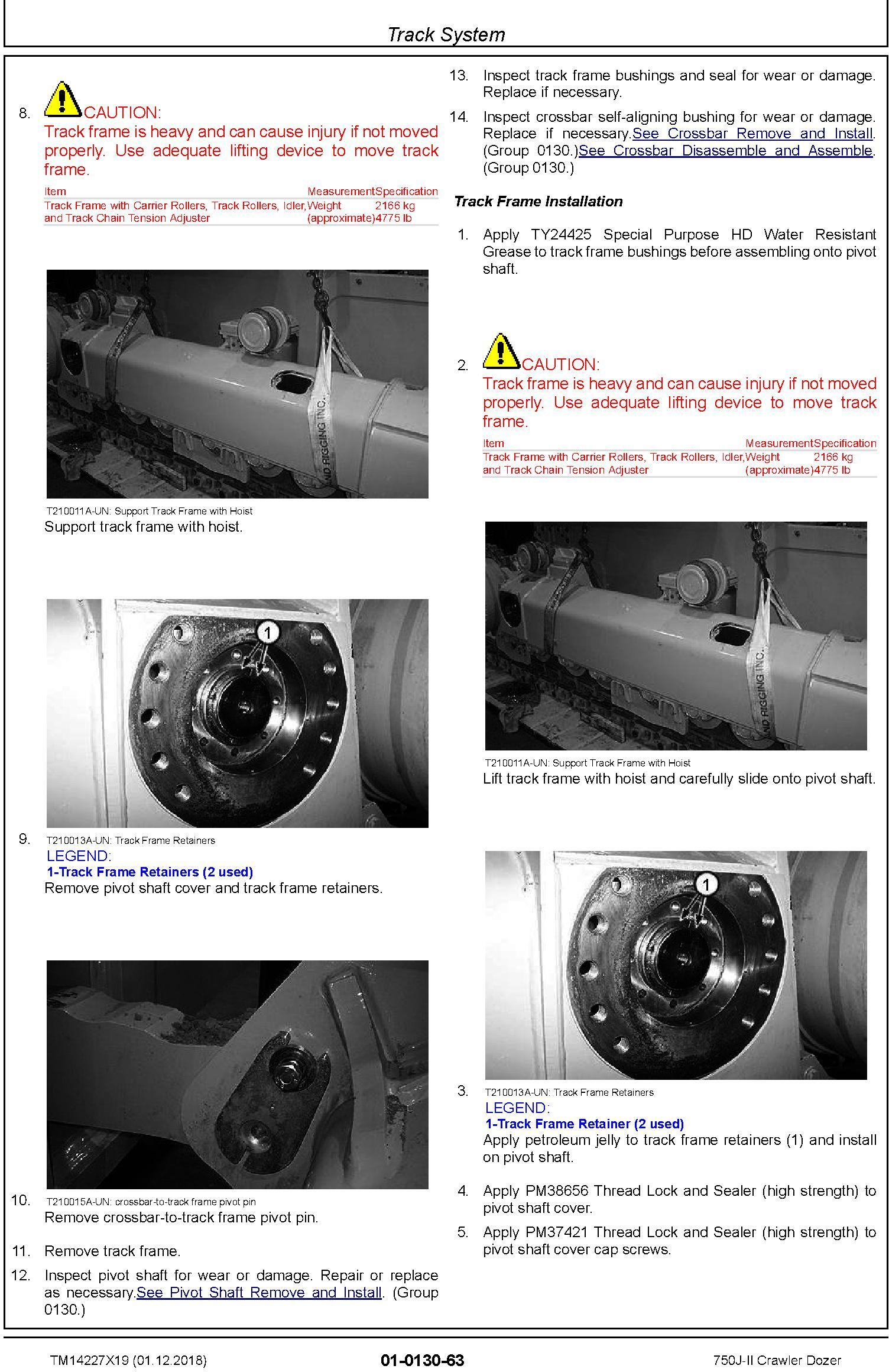 John Deere 750J-II (SN. D306890-330911) Crawler Dozer Repair Technical Service Manual (TM14227X19) - 3