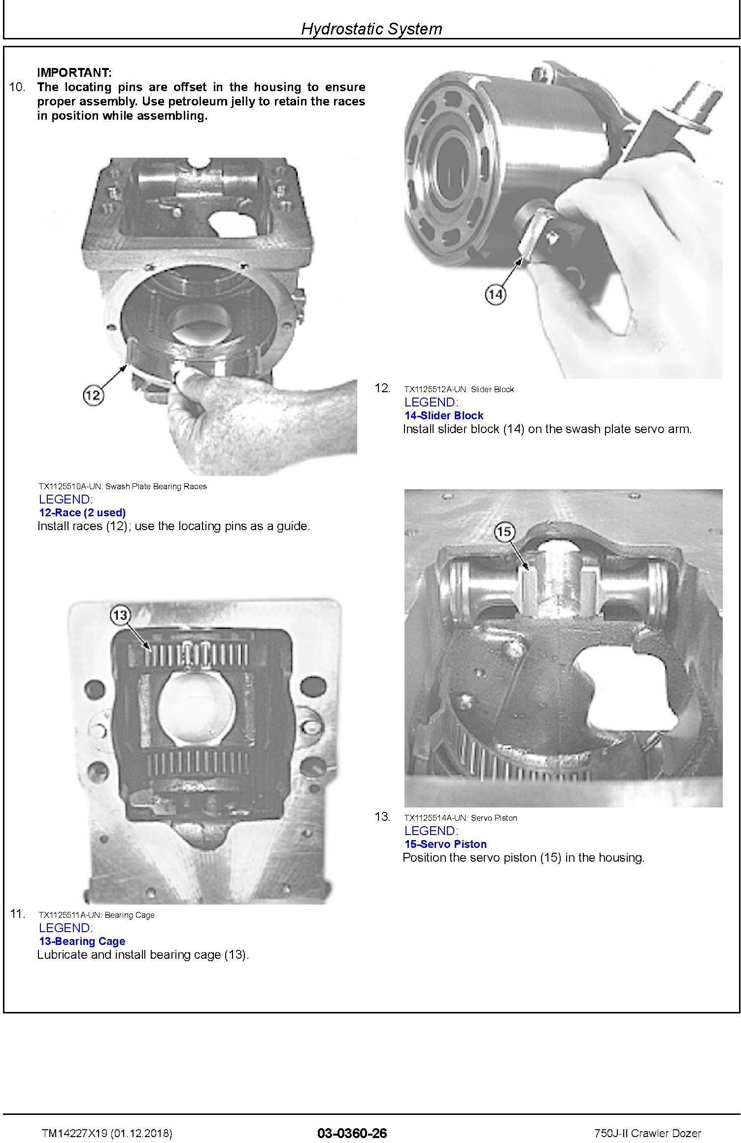 John Deere 750J-II (SN. D306890-330911) Crawler Dozer Repair Technical Service Manual (TM14227X19) - 2