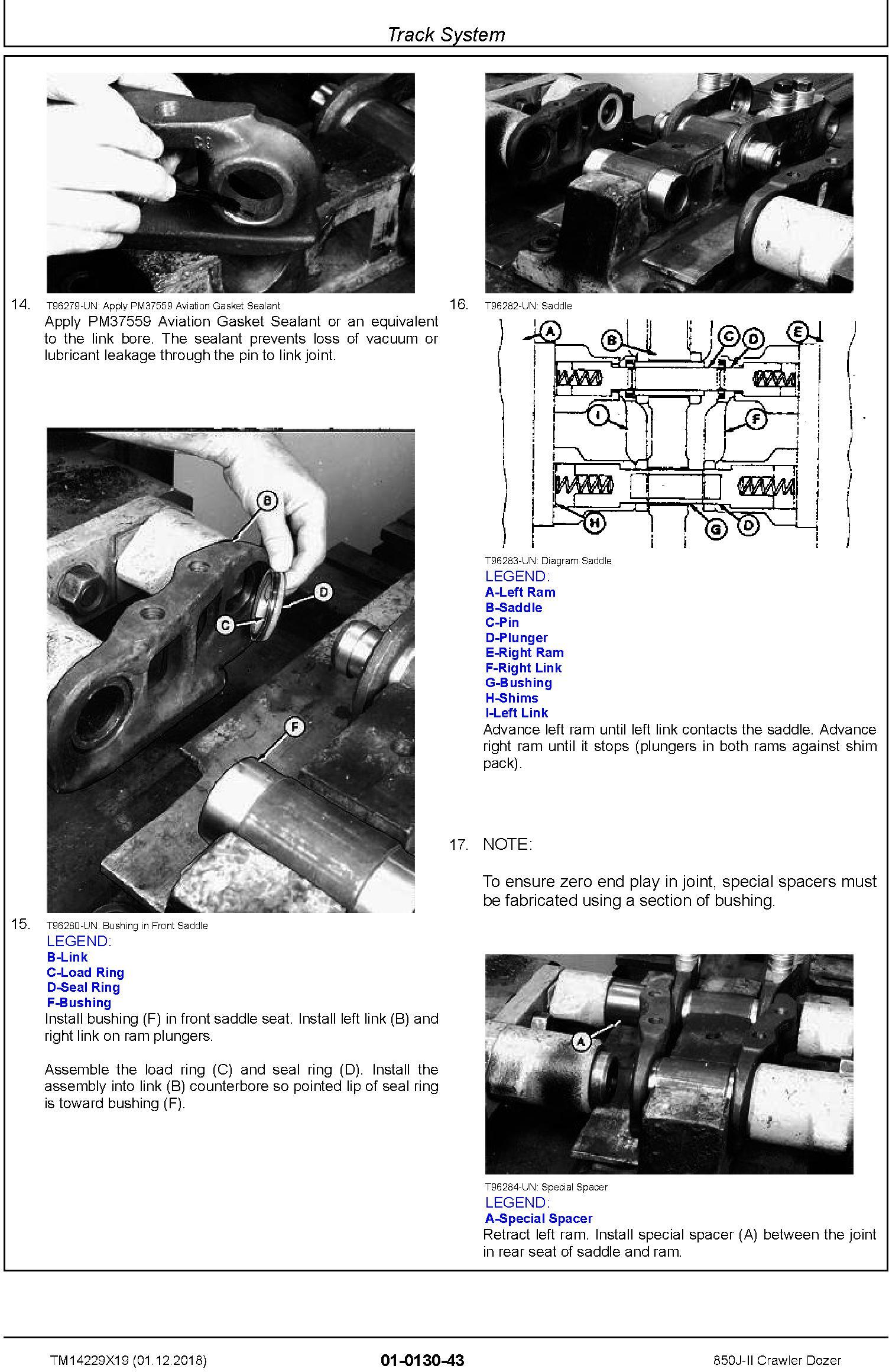 John Deere 850J-II (SN. C306799-354851) Crawler Dozer Repair Technical Service Manual (TM14229X19) - 1