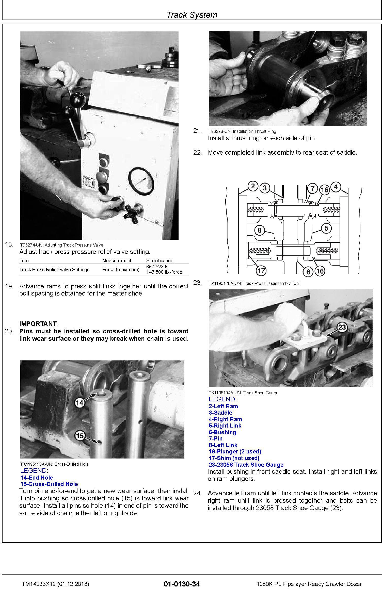 John Deere 1050K PL (SN. F310922-318801) Pipelayer Ready Crawler Dozer Repair Manual (TM14233X19) - 2