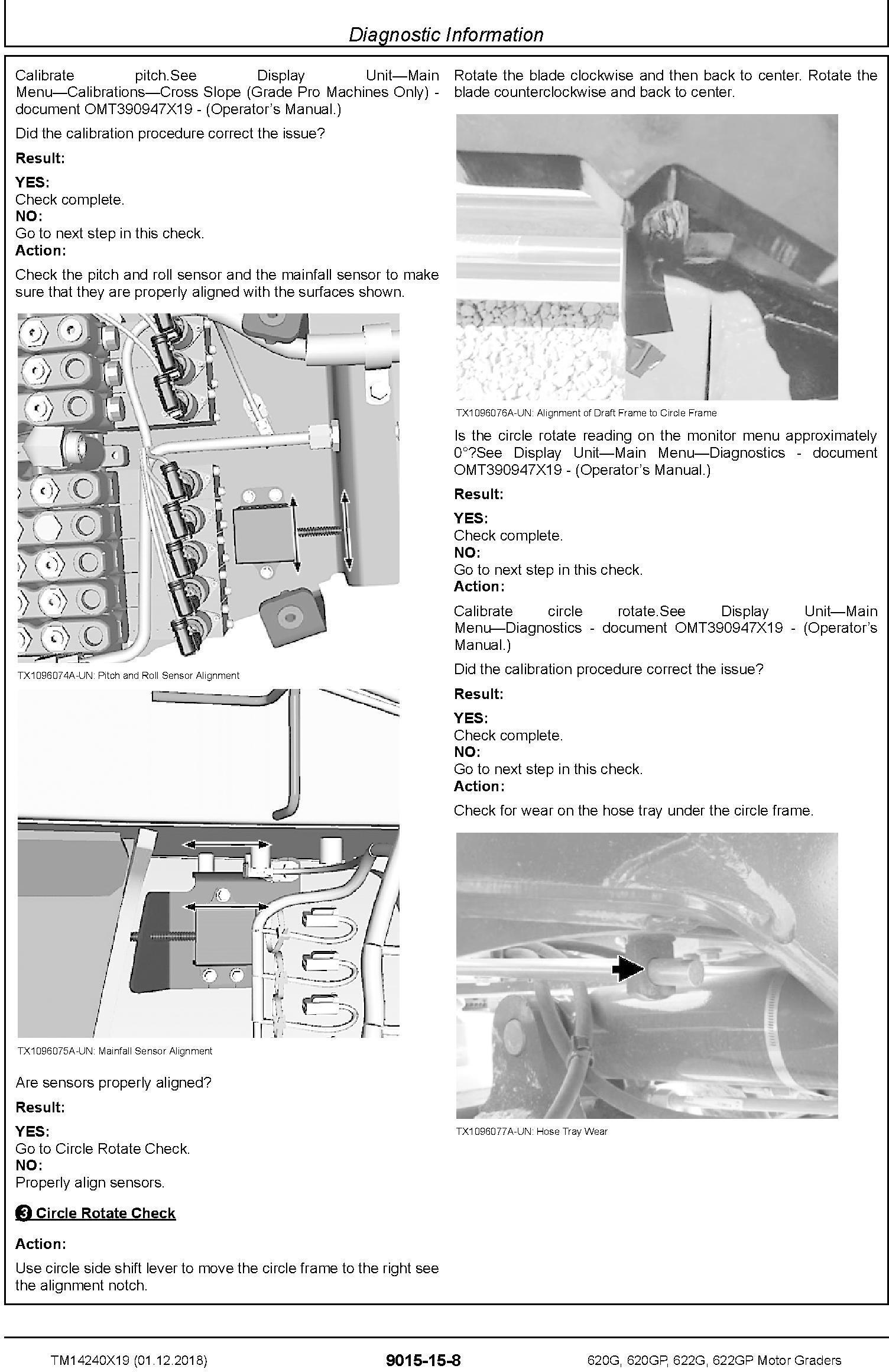 John Deere 620G,620GP,622G,622GP (SN.F680878-,L700954-) Motor Graders Diagnostic Manual (TM14240X19) - 2