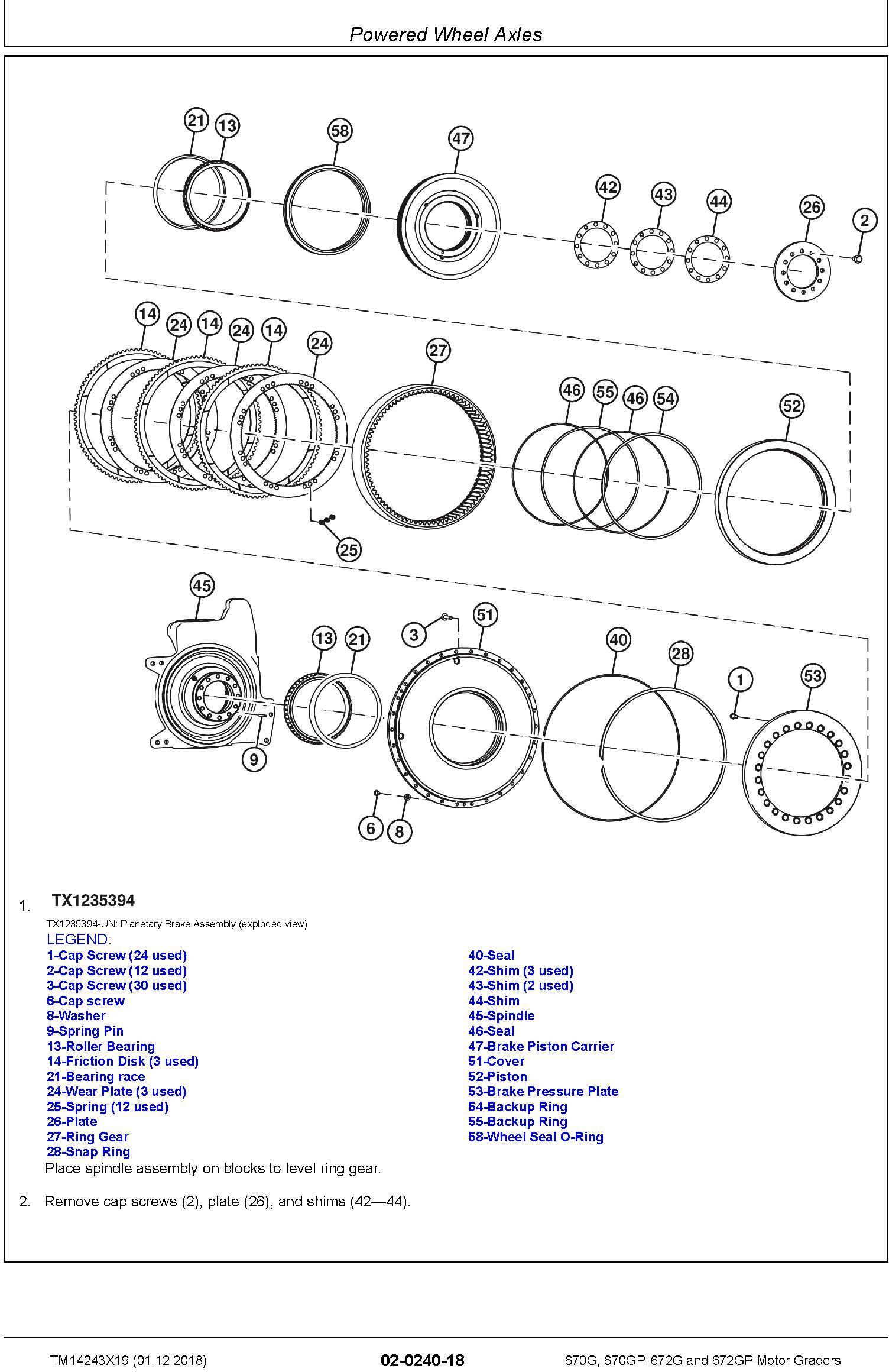 John Deere 670G, 670GP, 672G, 672GP (SN.F680878-, L700954-) Motor Graders Repair Manual (TM14243X19) - 2