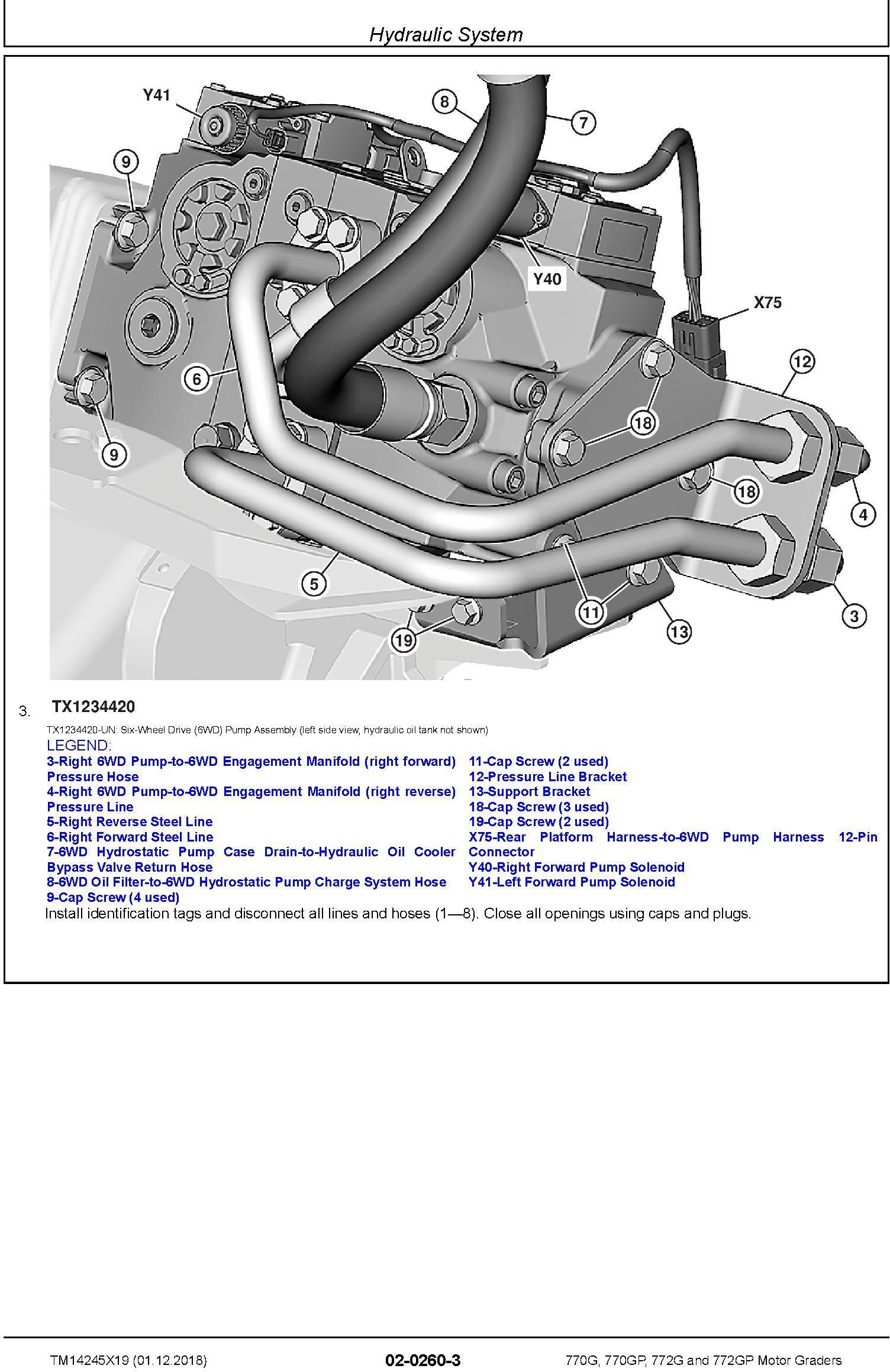 John Deere 770G, 770GP, 772G, 772GP (SN. F680878-,L700954-) Motor Graders Repair Manual (TM14245X19) - 3