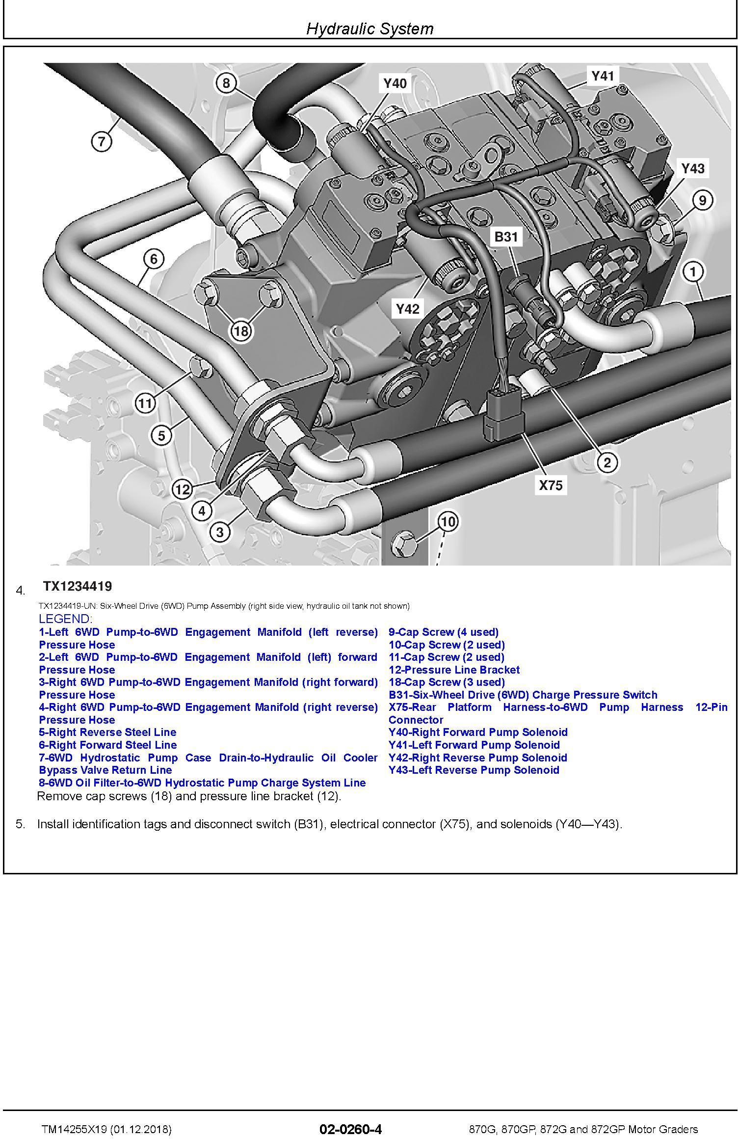 John Deere 870G, 870GP, 872G, 872GP (SN. C680878-,D680878-) Motor Graders Repair Manual (TM14255X19) - 3