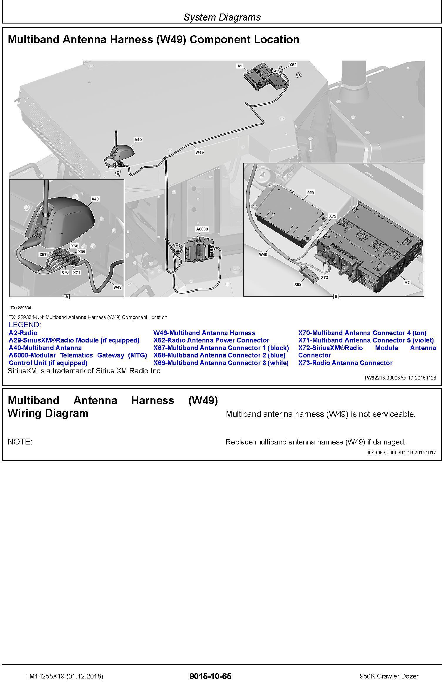 John Deere 950K (SN. C310401-338999) Crawler Dozer Operation & Test Technical Manual (TM14258X19) - 1