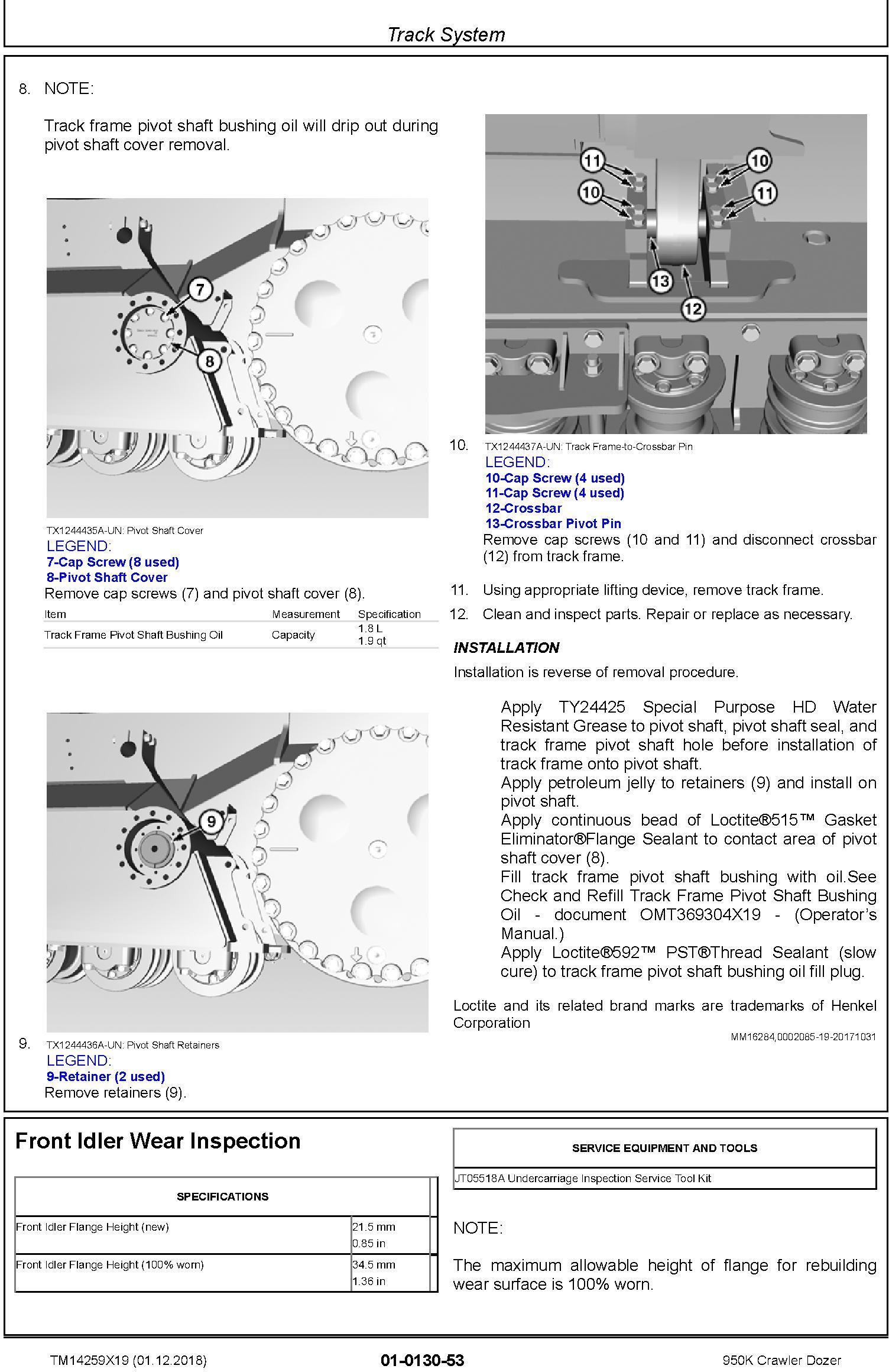 John Deere 950K (SN. C310401-338999) Crawler Dozer Repair Technical Service Manual (TM14259X19) - 3