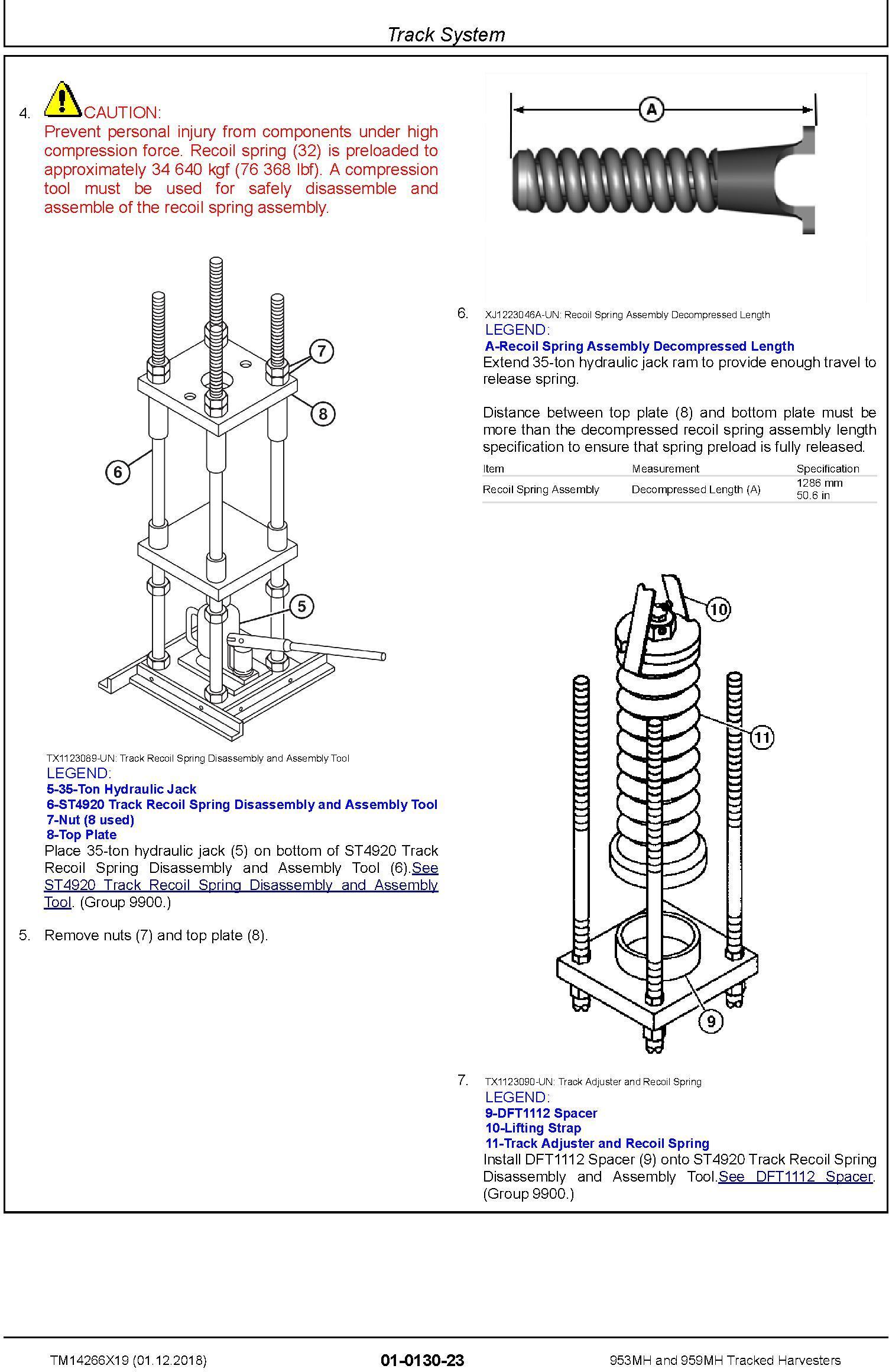 John Deere 953MH, 959MH (SN.F317982-,L317982-) Tracked Harvesters Service Repair Manual (TM14266X19) - 1