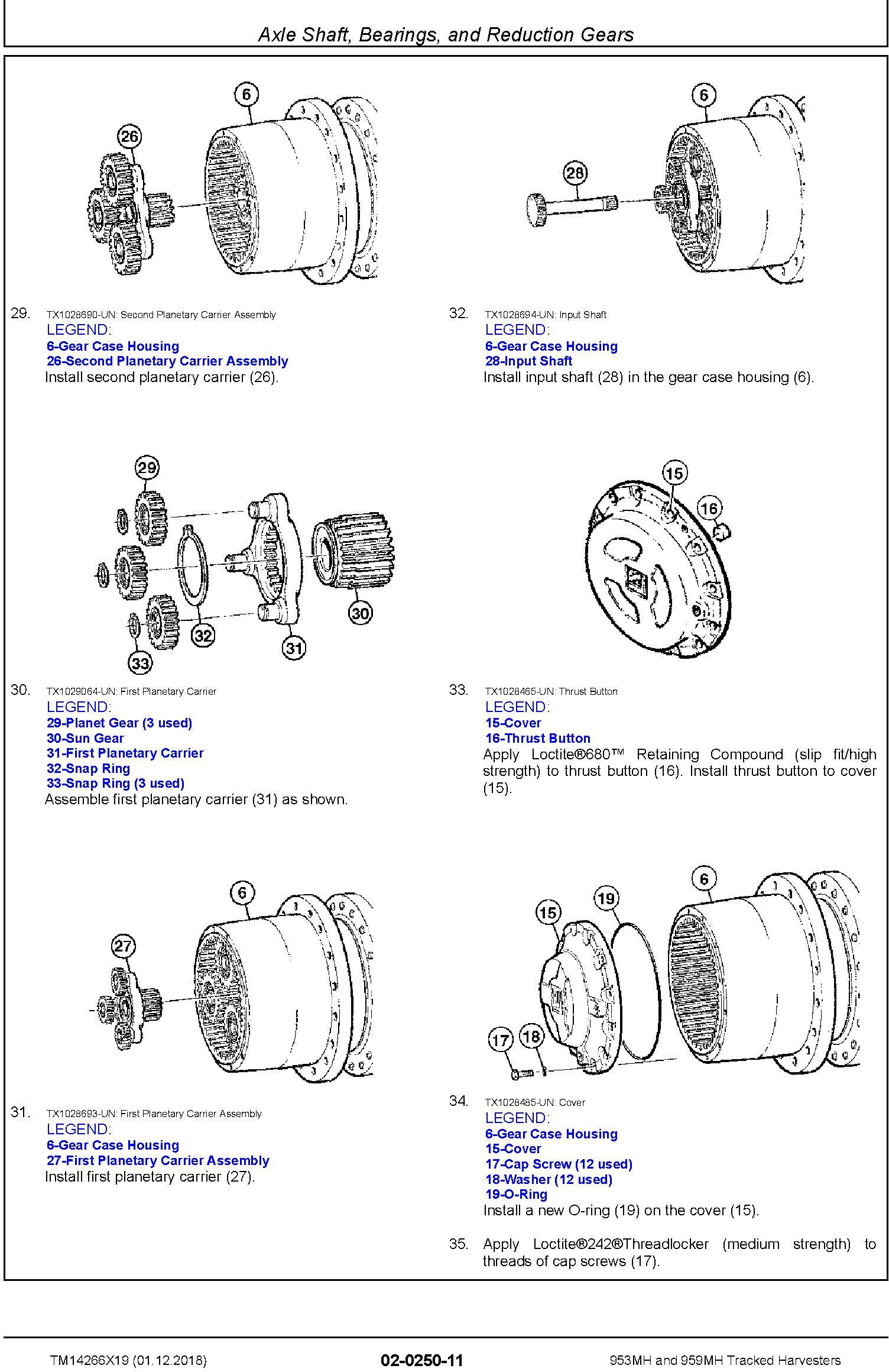 John Deere 953MH, 959MH (SN.F317982-,L317982-) Tracked Harvesters Service Repair Manual (TM14266X19) - 2