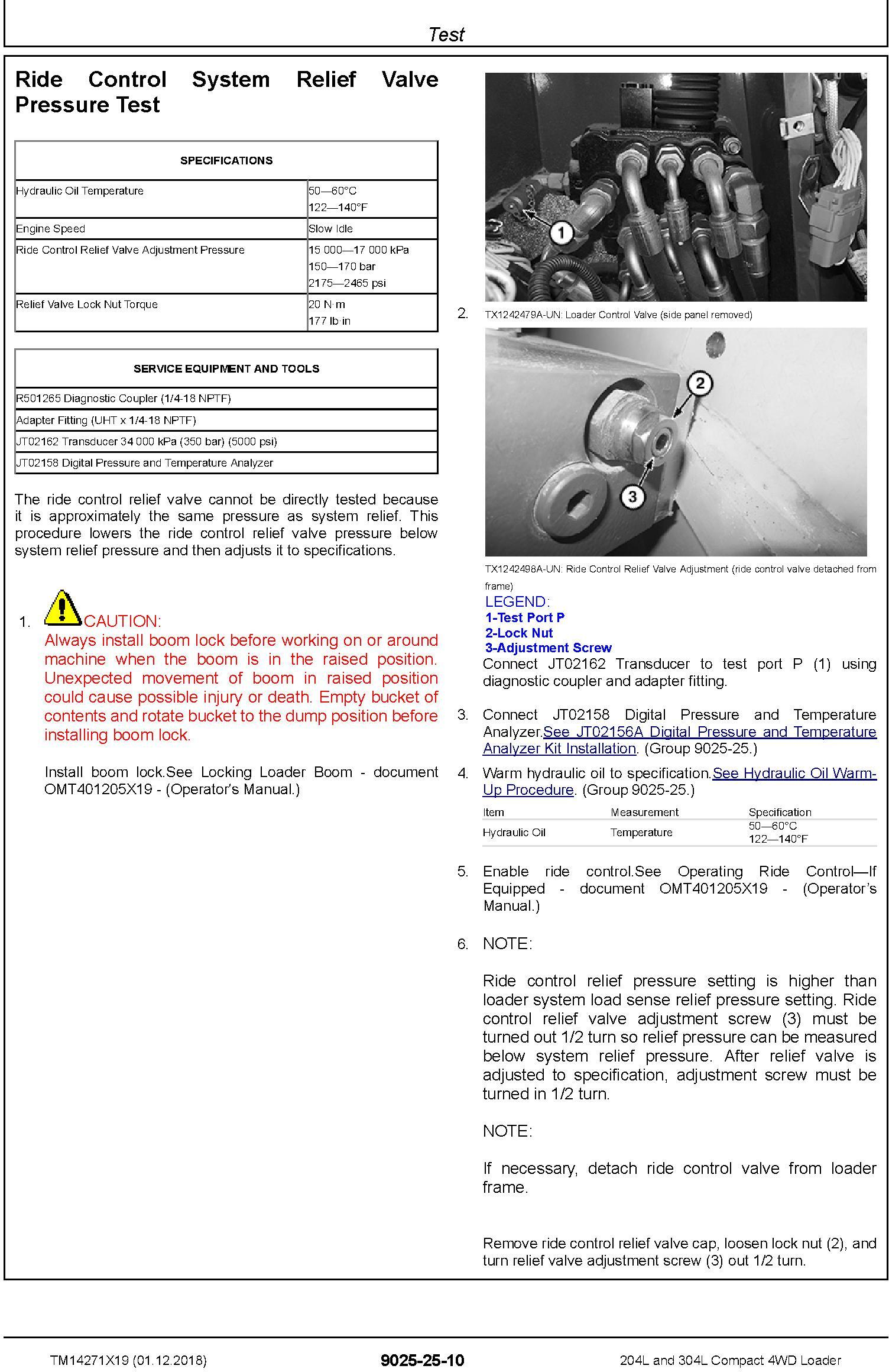 John Deere 204L,304L (SN.B040073-) Compact 4WD Loader Operation & Test Technical Manual (TM14271X19) - 3