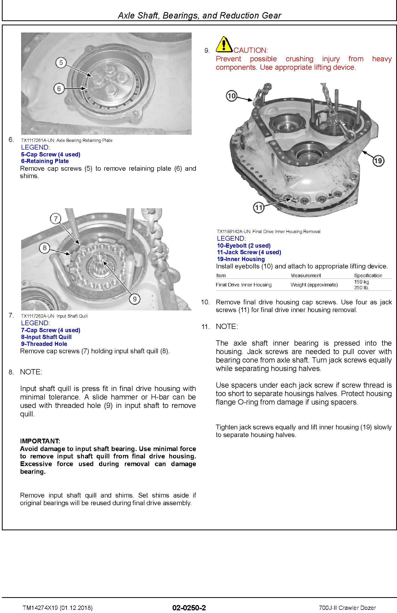 John Deere 700J-II (SN. D000001-) Crawler Dozer Repair Service Manual (TM14274X19) - 3