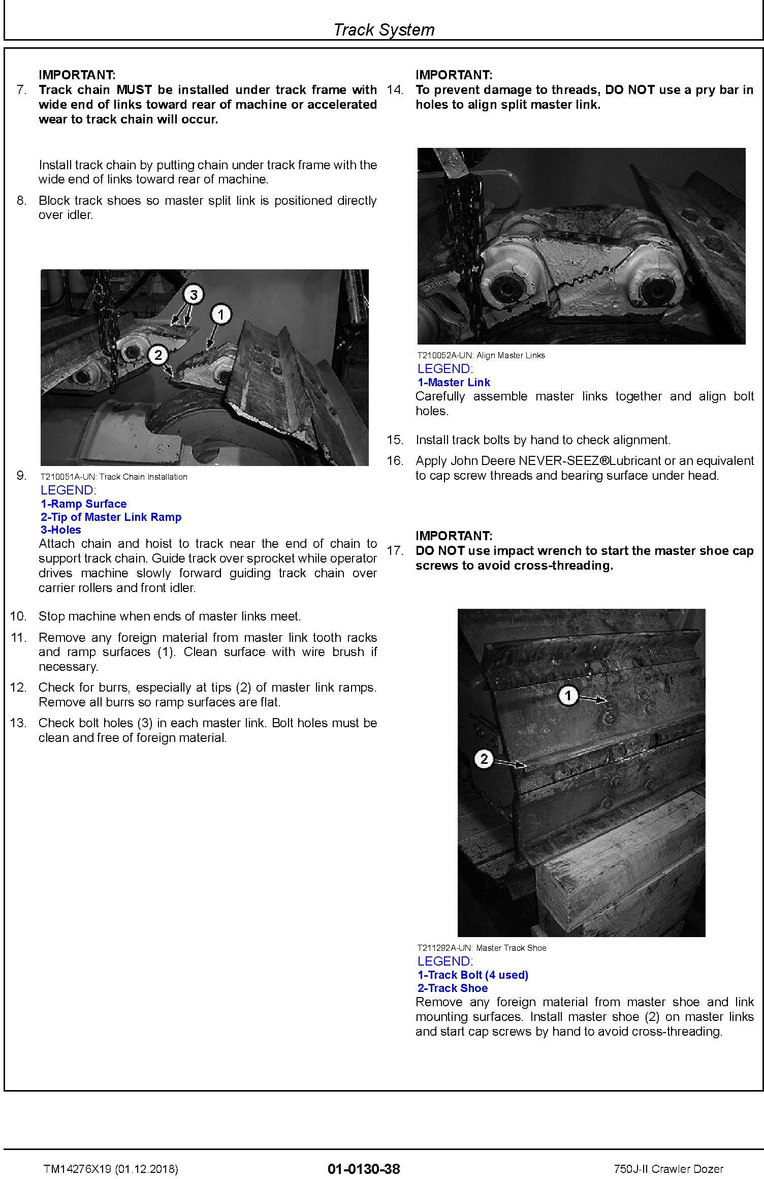 John Deere 750J-II (SN. D000001-) Crawler Dozer Repair Service Manual (TM14276X19) - 2
