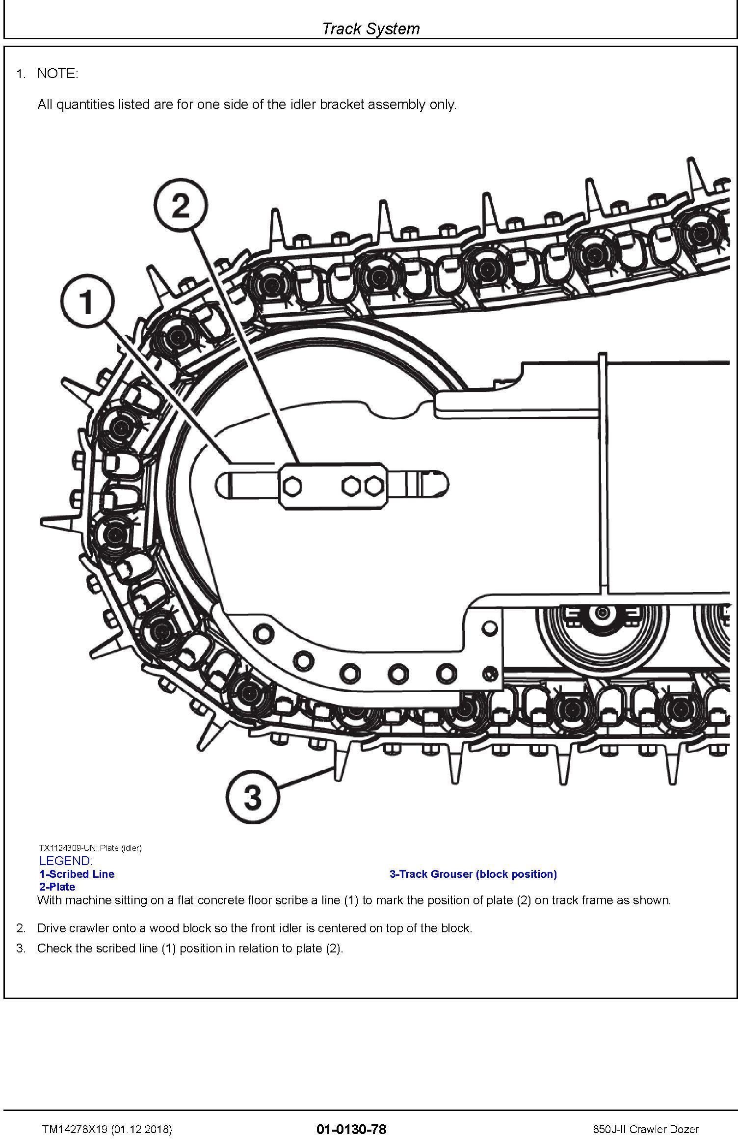 John Deere 850J-II (SN. D000001-) Crawler Dozer Repair Service Manual (TM14278X19) - 2