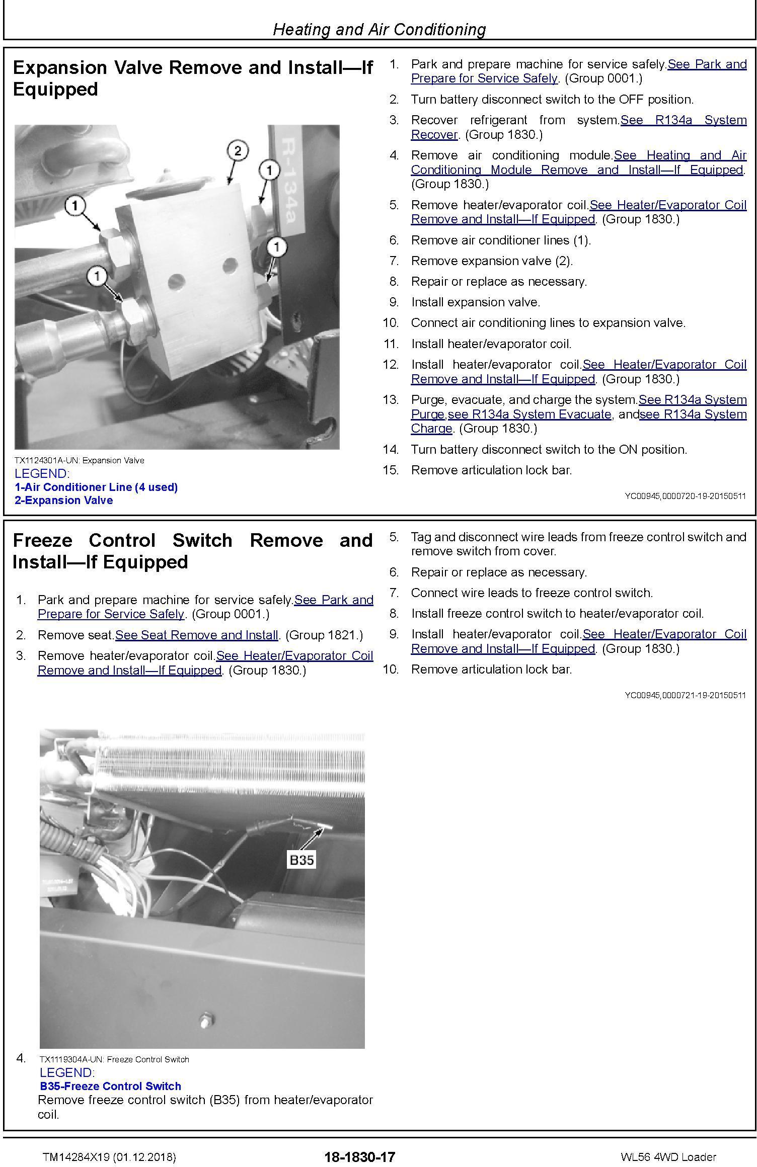 John Deere WL56 (SN. D000001-) 4WD Loader Service Repair Technical Manual (TM14284X19) - 1