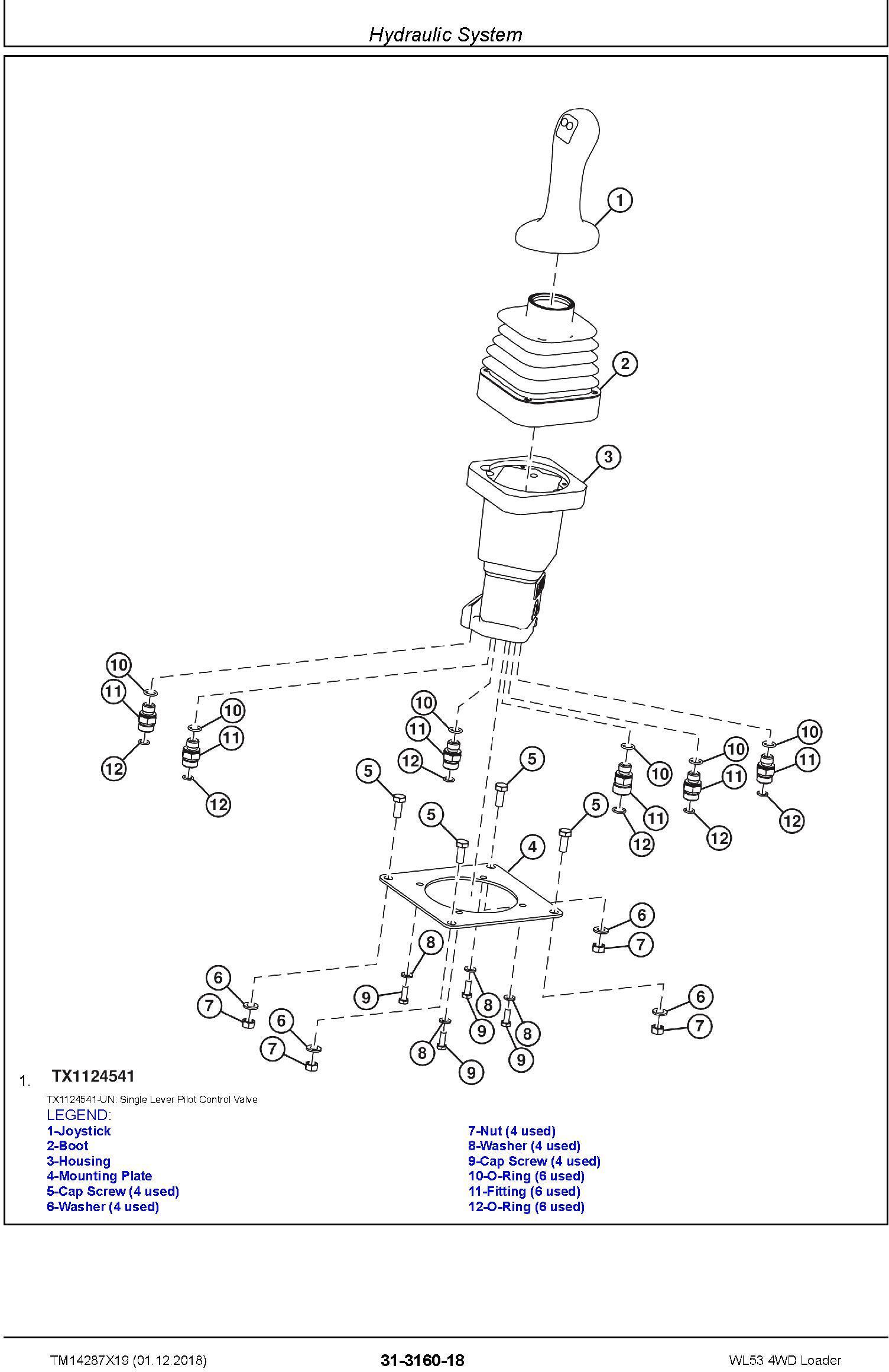 John Deere WL53 (SN. D000001-) 4WD Loader Repair Service Manual (TM14287X19) - 3