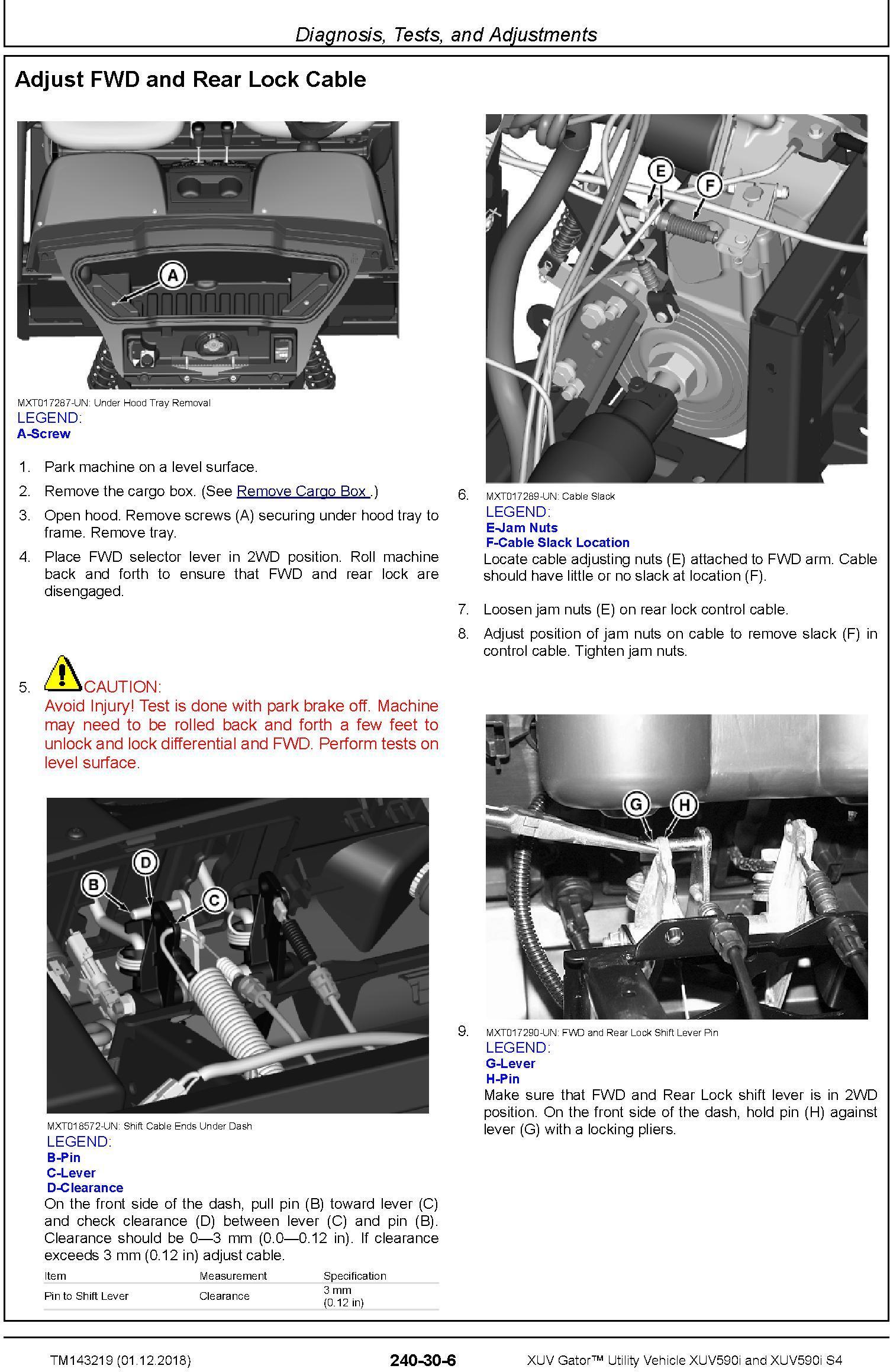 John Deere XUV Gator Utility Vehicle XUV590i, XUV590i S4 (SN.010001-) Diagnostic Manual (TM143219) - 3