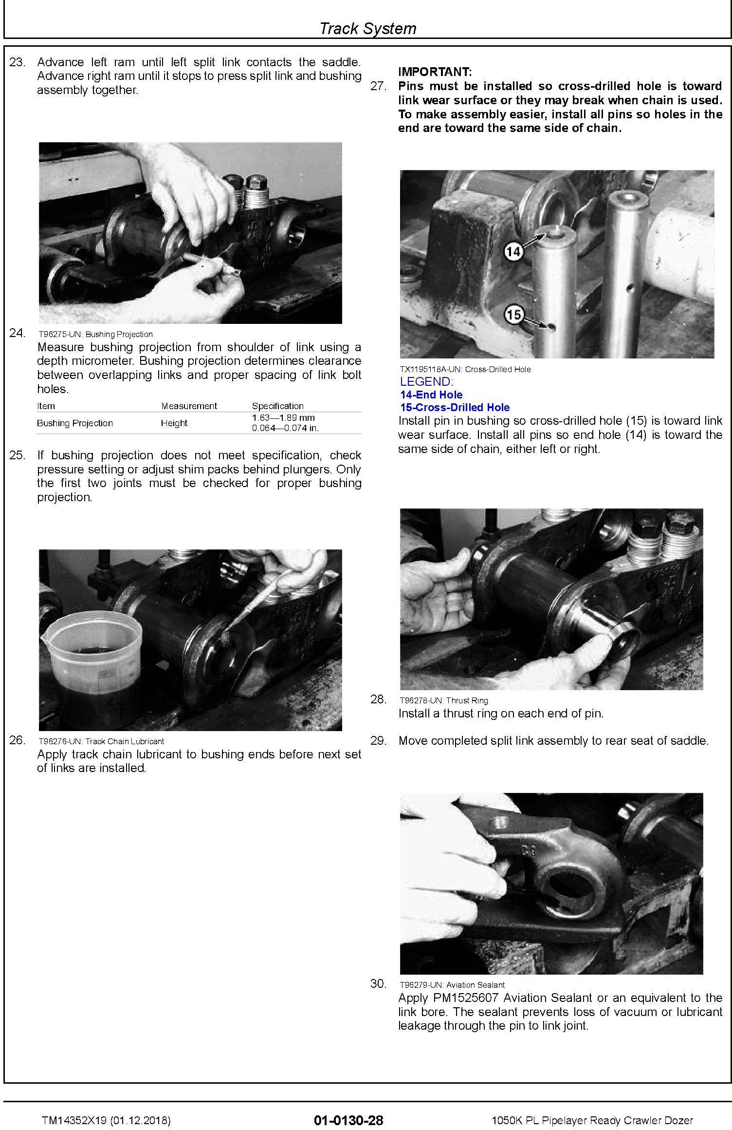 John Deere 1050K PL (SN.F318802-) Pipelayer Ready Crawler Dozer Repair Technical Manual (TM14352X19) - 2