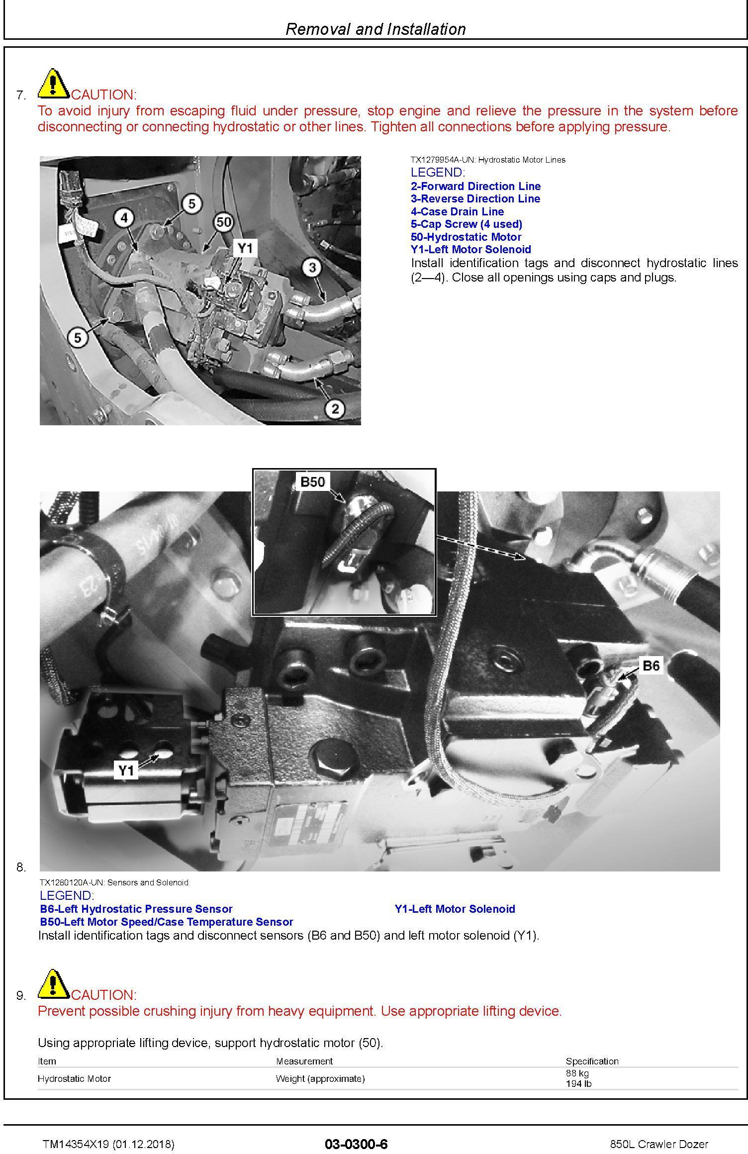 John Deere 850L Crawler Dozer Repair Technical Manual (TM14354X19) - 3