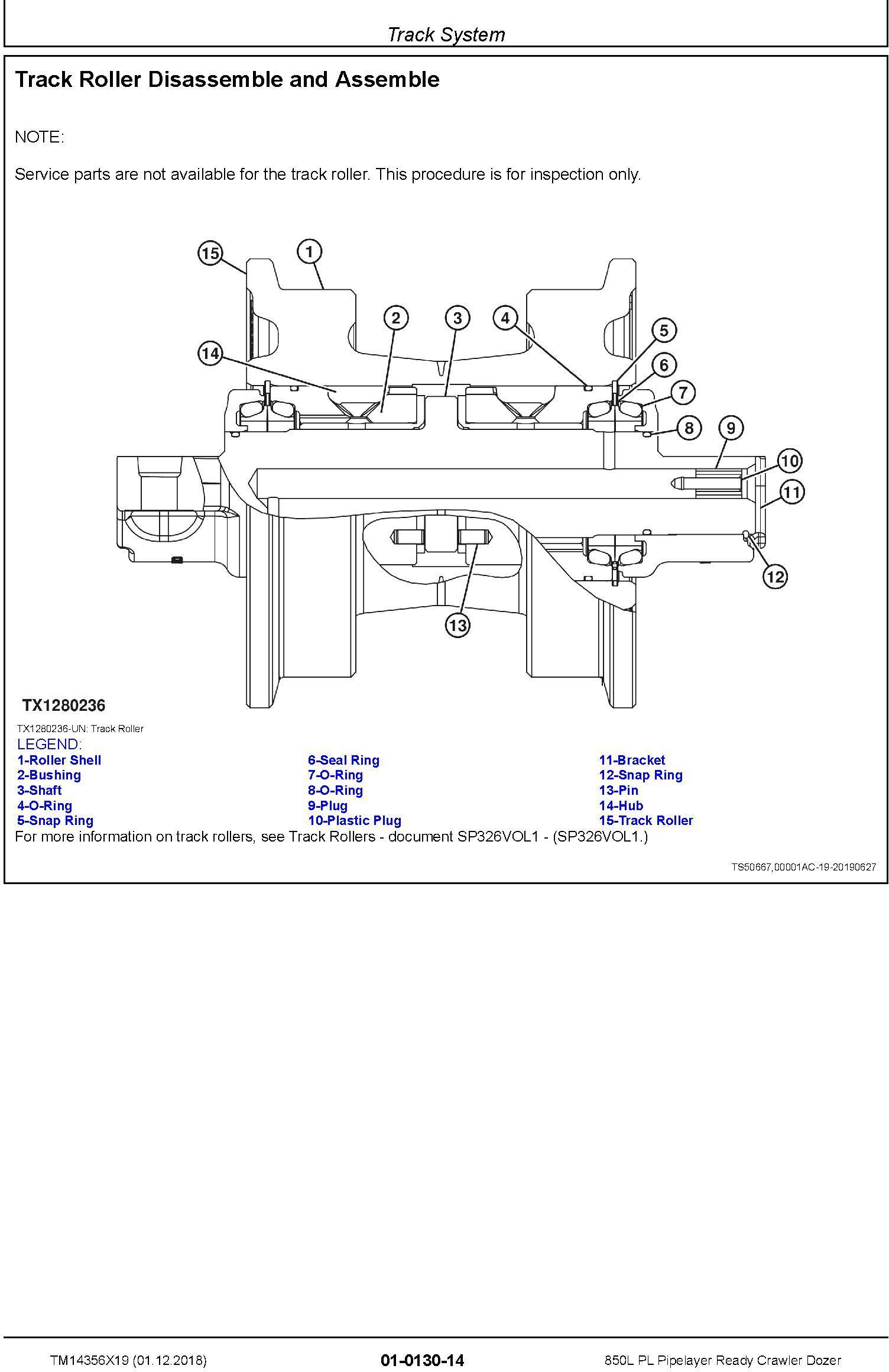 John Deere 850L PL Pipelayer Ready Crawler Dozer Repair Technical Manual (TM14356X19) - 2