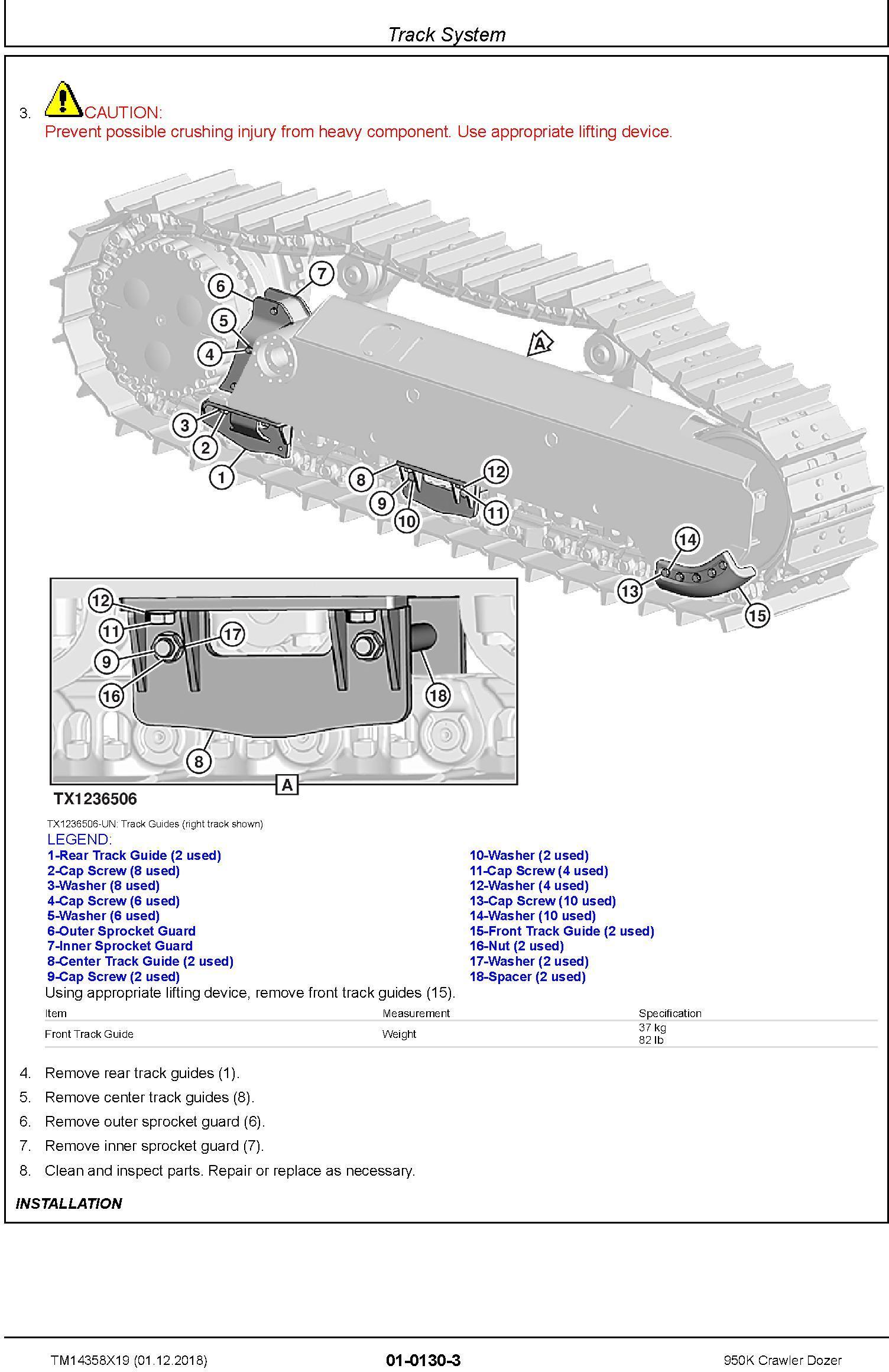 John Deere 950K Crawler Dozer Repair Technical Manual (TM14358X19) - 1