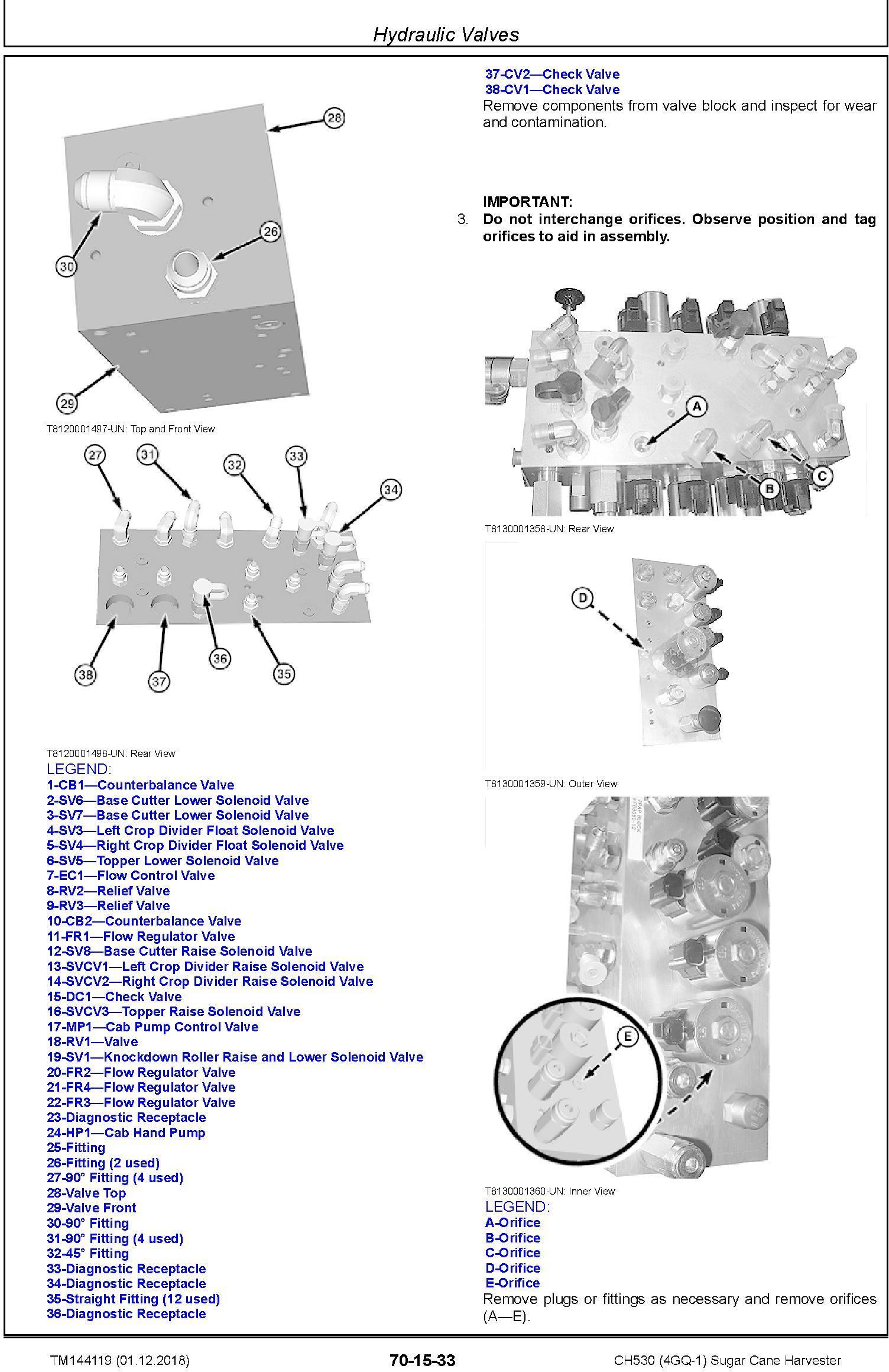 John Deere CH530 (4GQ-1) Sugar Cane Harvester Repair Service Technical Manual (TM144119) - 1