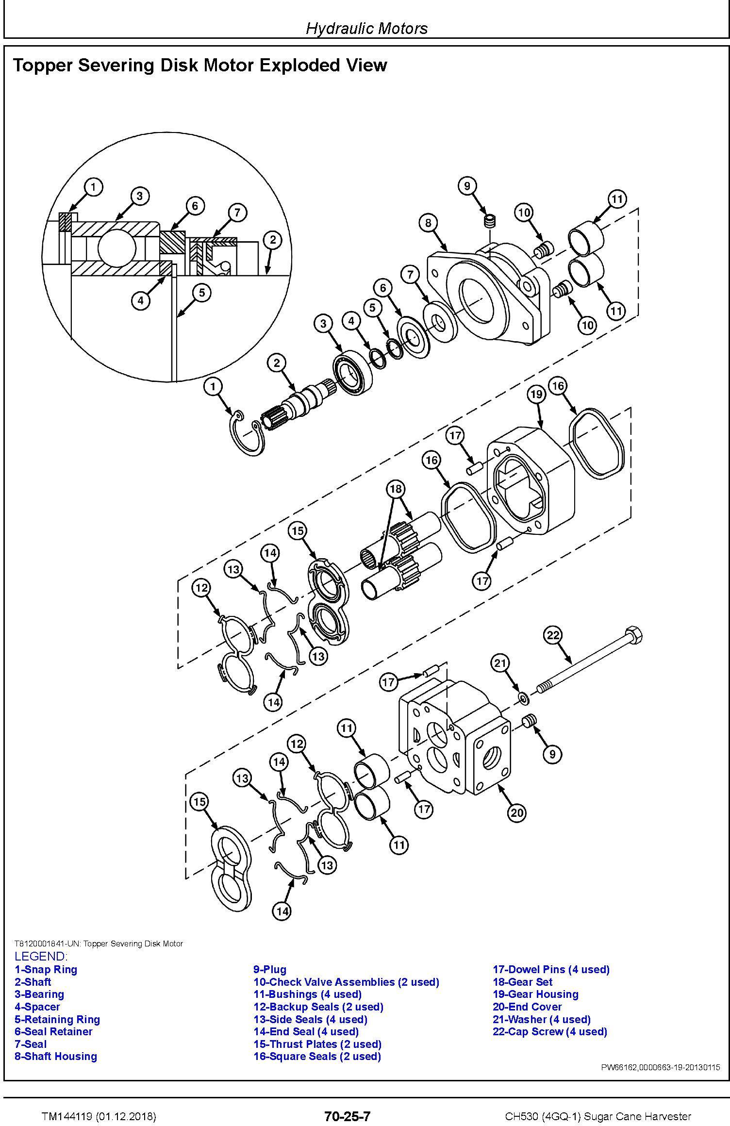 John Deere CH530 (4GQ-1) Sugar Cane Harvester Repair Service Technical Manual (TM144119) - 2