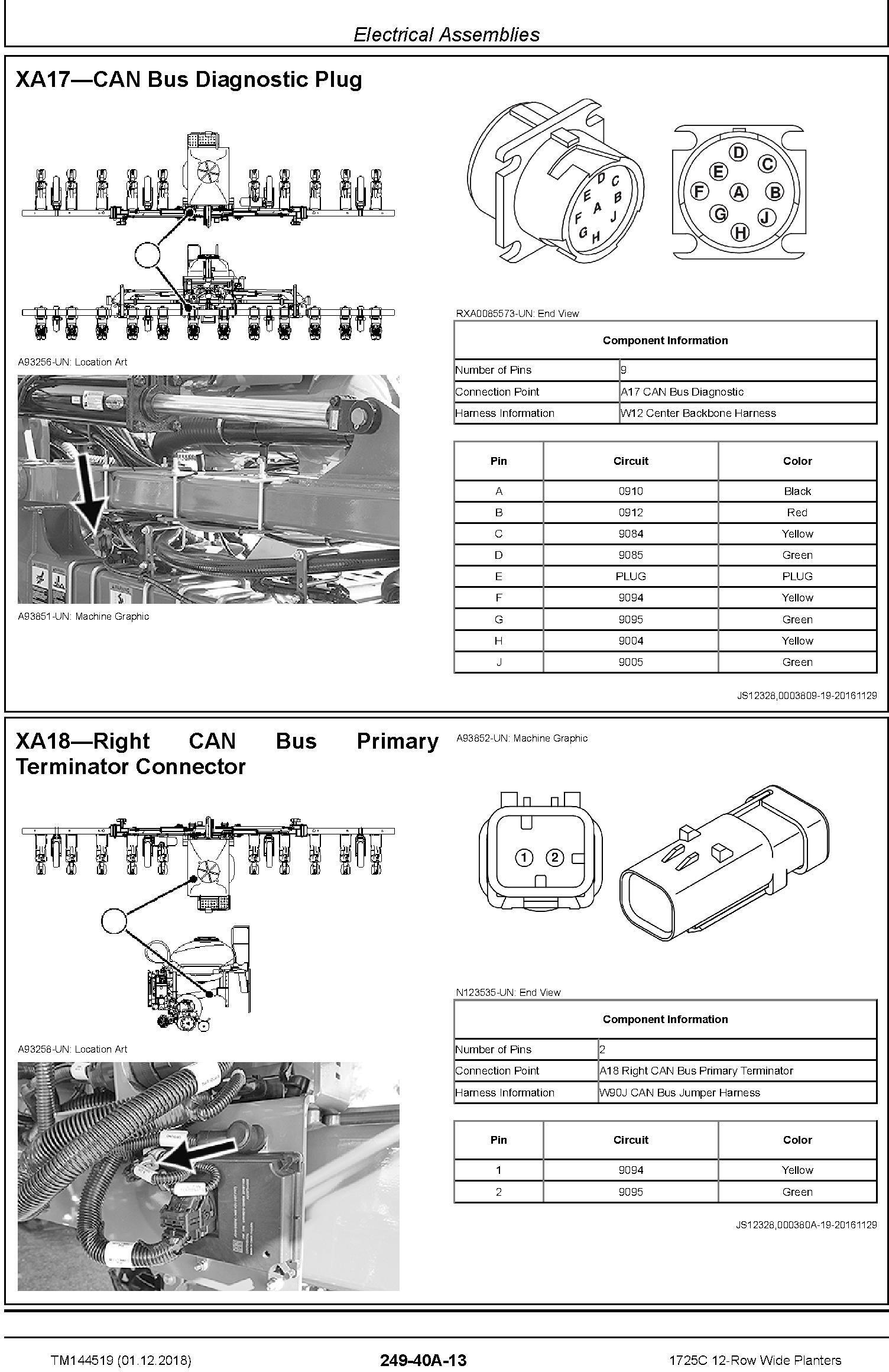 John Deere 1725C 12-Row Wide Planters Diagnostic Technical Service Manual (TM144519) - 1