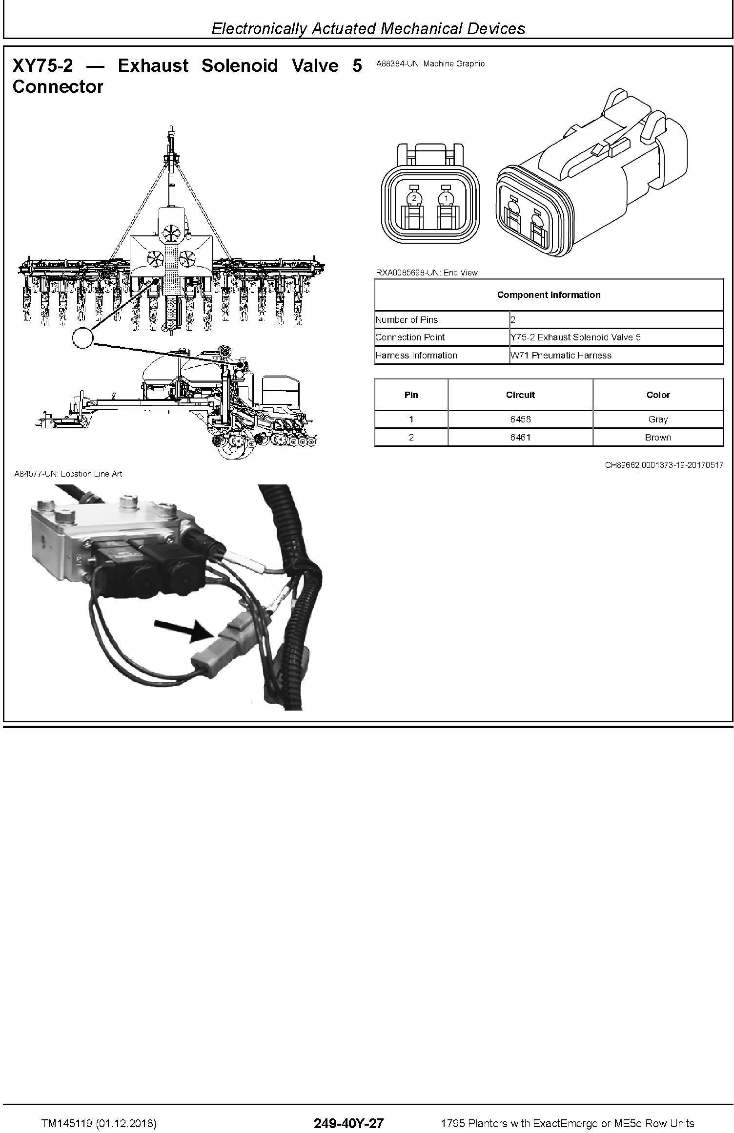 John Deere 1795 Planters with ExactEmerge or ME5e Row Units Diagnostic Technical Manual (TM145119) - 2