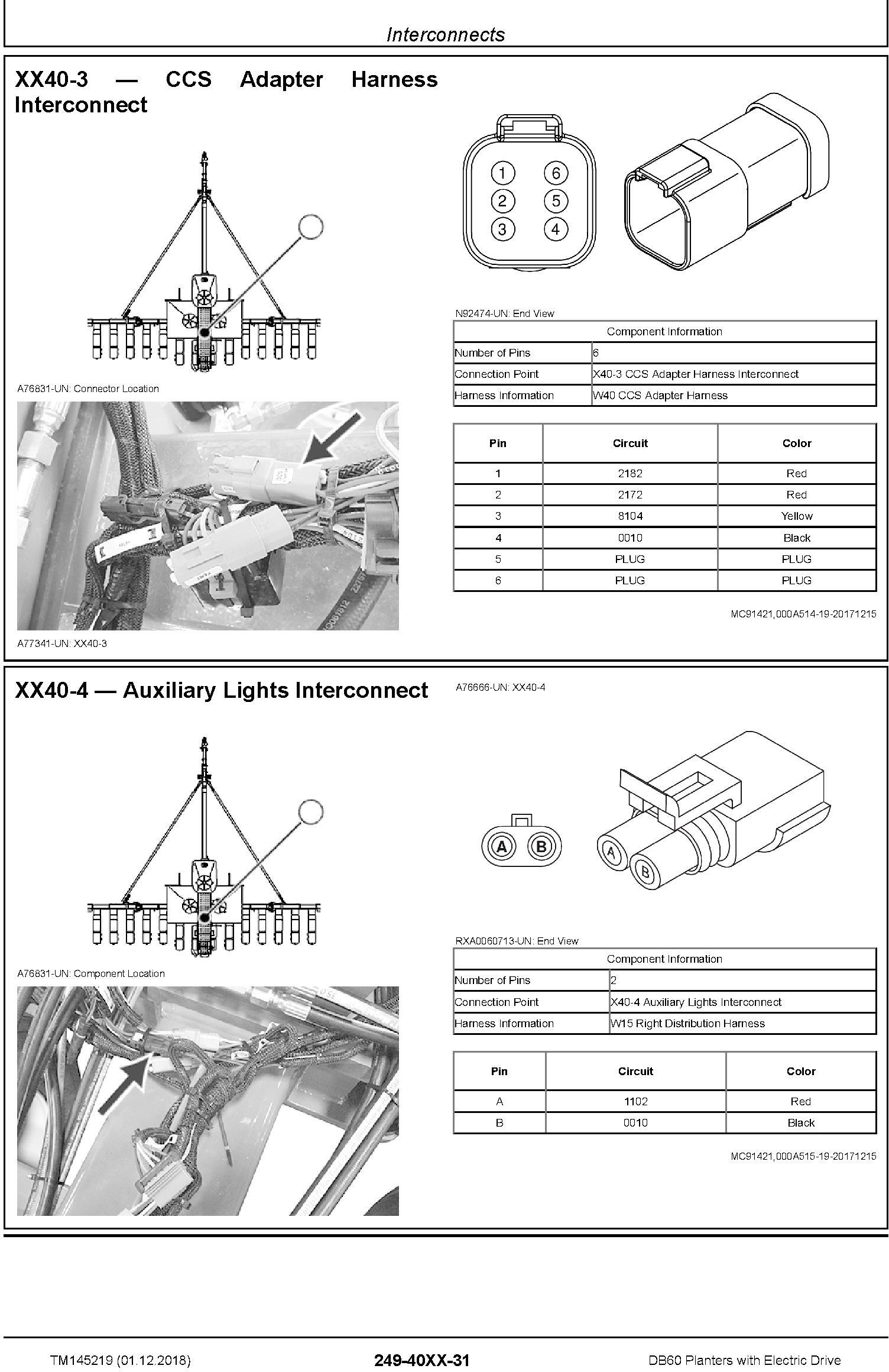 John Deere DB60 Planters with Electric Drive Diagnostic (SN.775100-) Technical Manual (TM145219) - 1