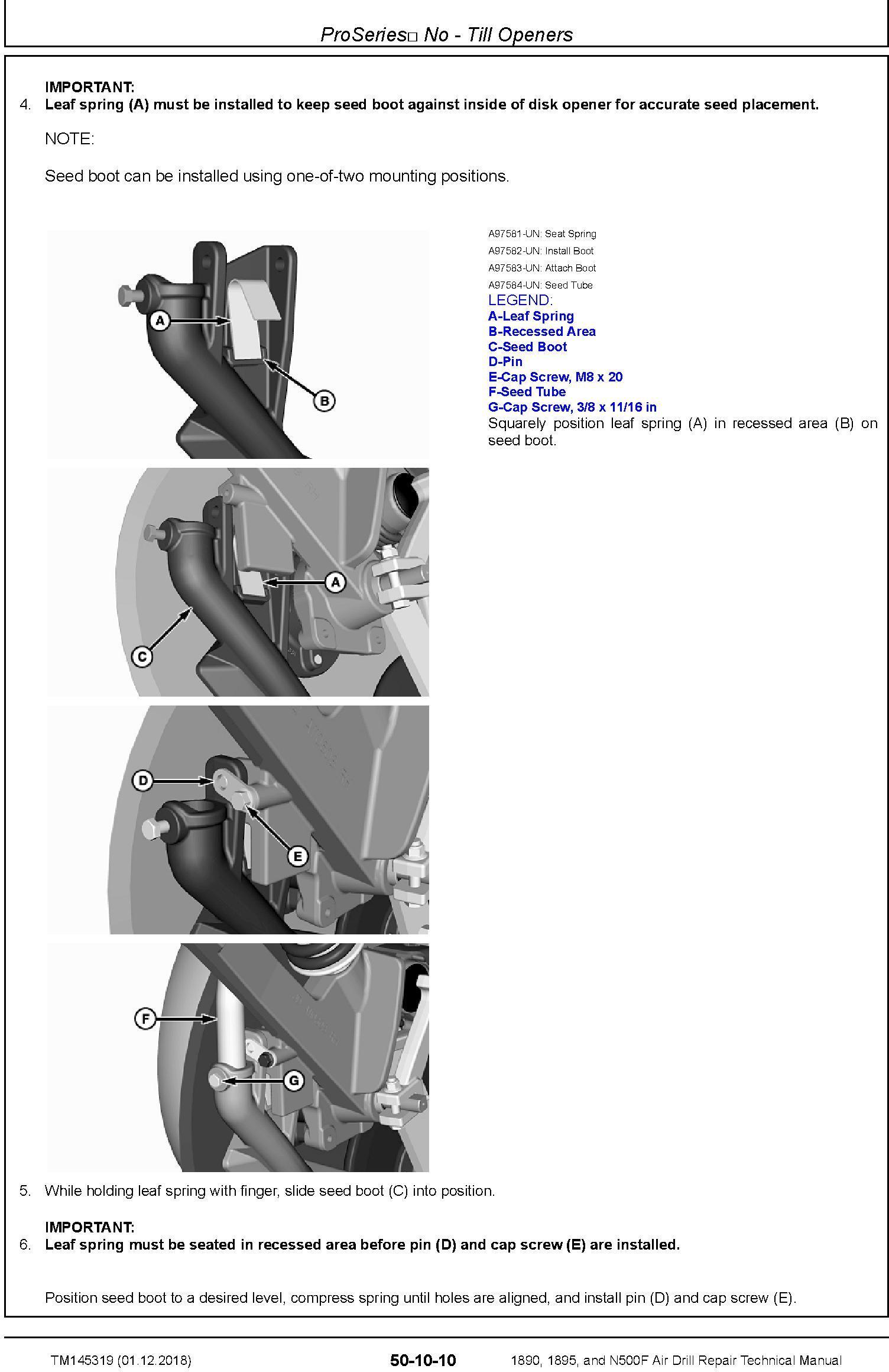 JD John Deere 1890, 1895, N500F Air Drill (SN.775101-) Repair Technical Service Manual (TM145319) - 3