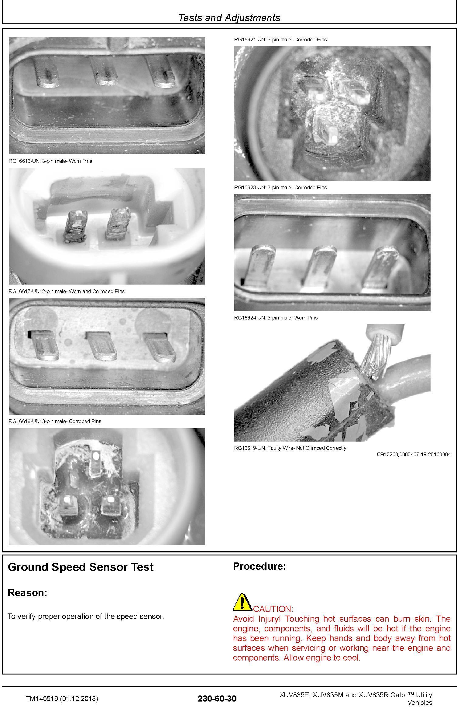 John Deere XUV835E, XUV835M, XUV835R Gator Utility Vehicles (SN.010001-) Technical Manual (TM145519) - 2