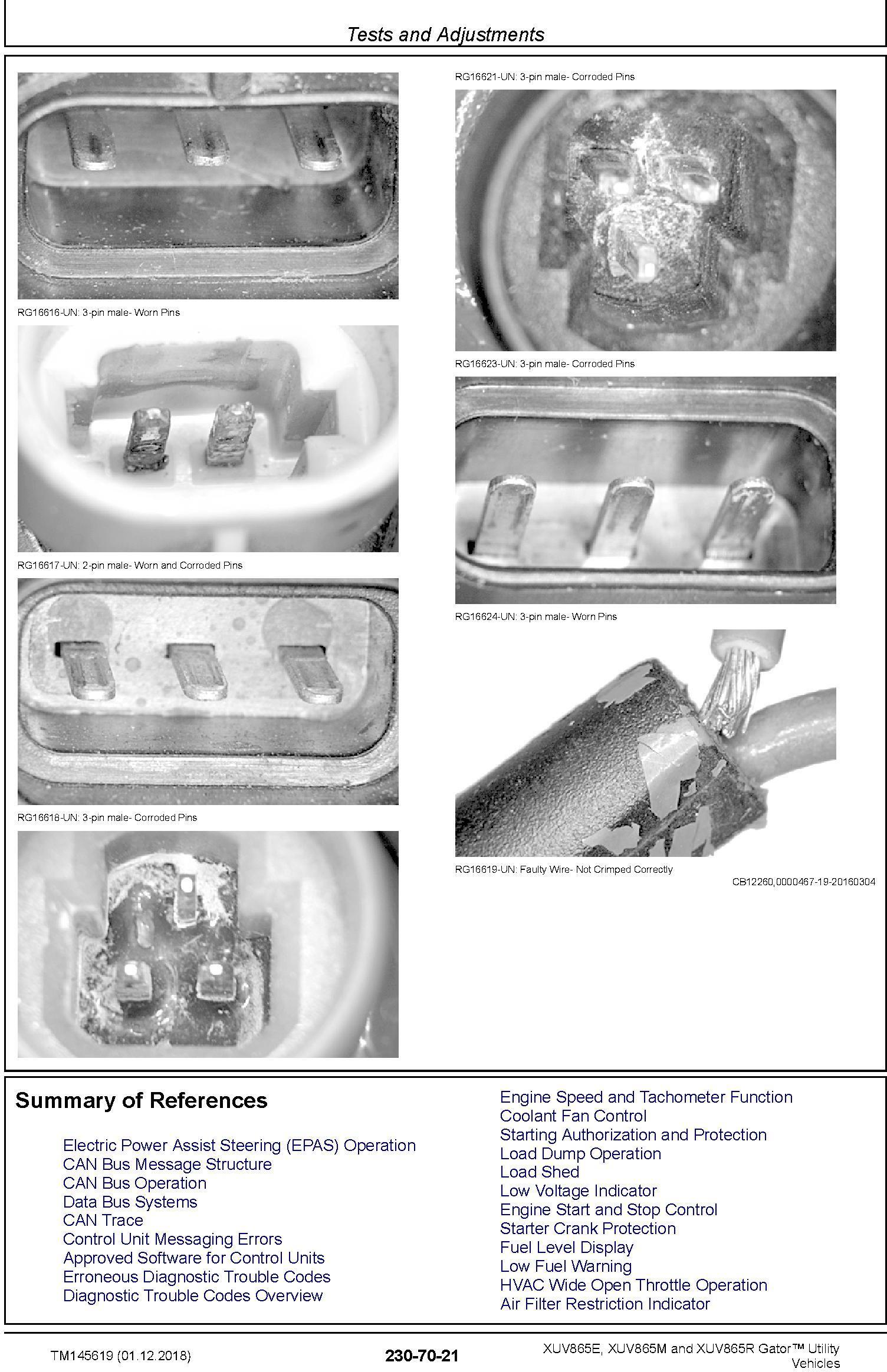 John Deere XUV865E, XUV865M, XUV865R Gator Utility Vehicles (SN.010001-) Technical Manual (TM145619) - 2
