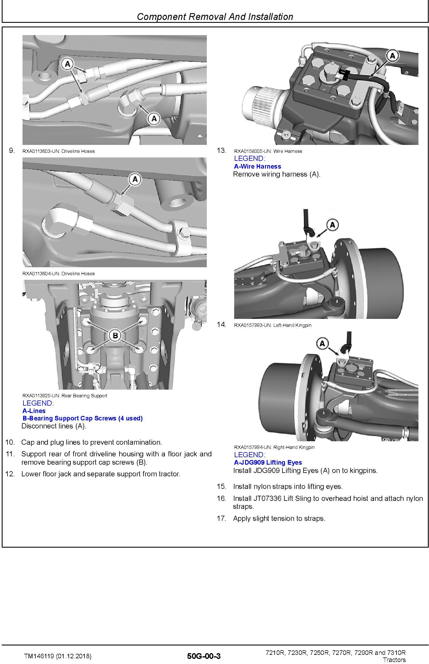 John Deere 7210R 7230R 7250R 7270R 7290R 7310R Tractor (SN.094000-) Repair Technical Manual TM146119 - 2